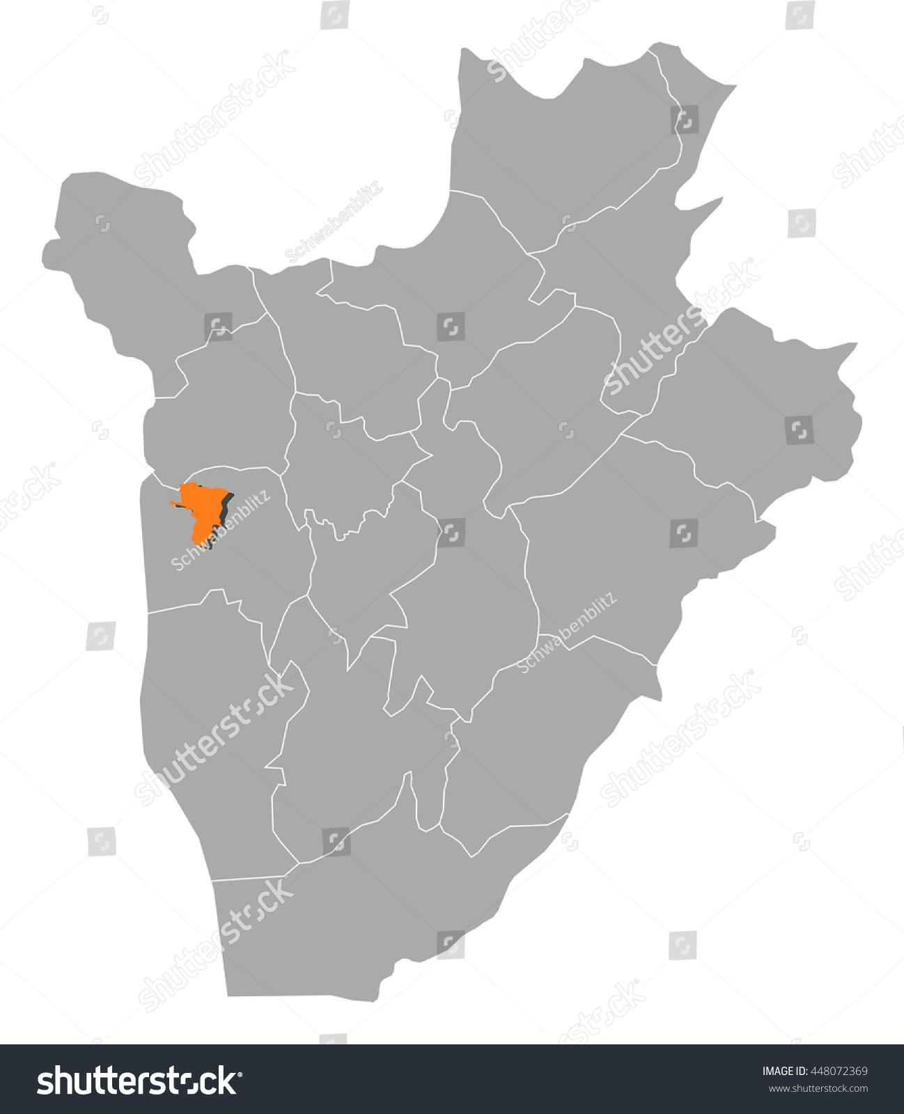 Map Burundi Bujumbura Mairie Stock Vector 448072369 Shutterstock