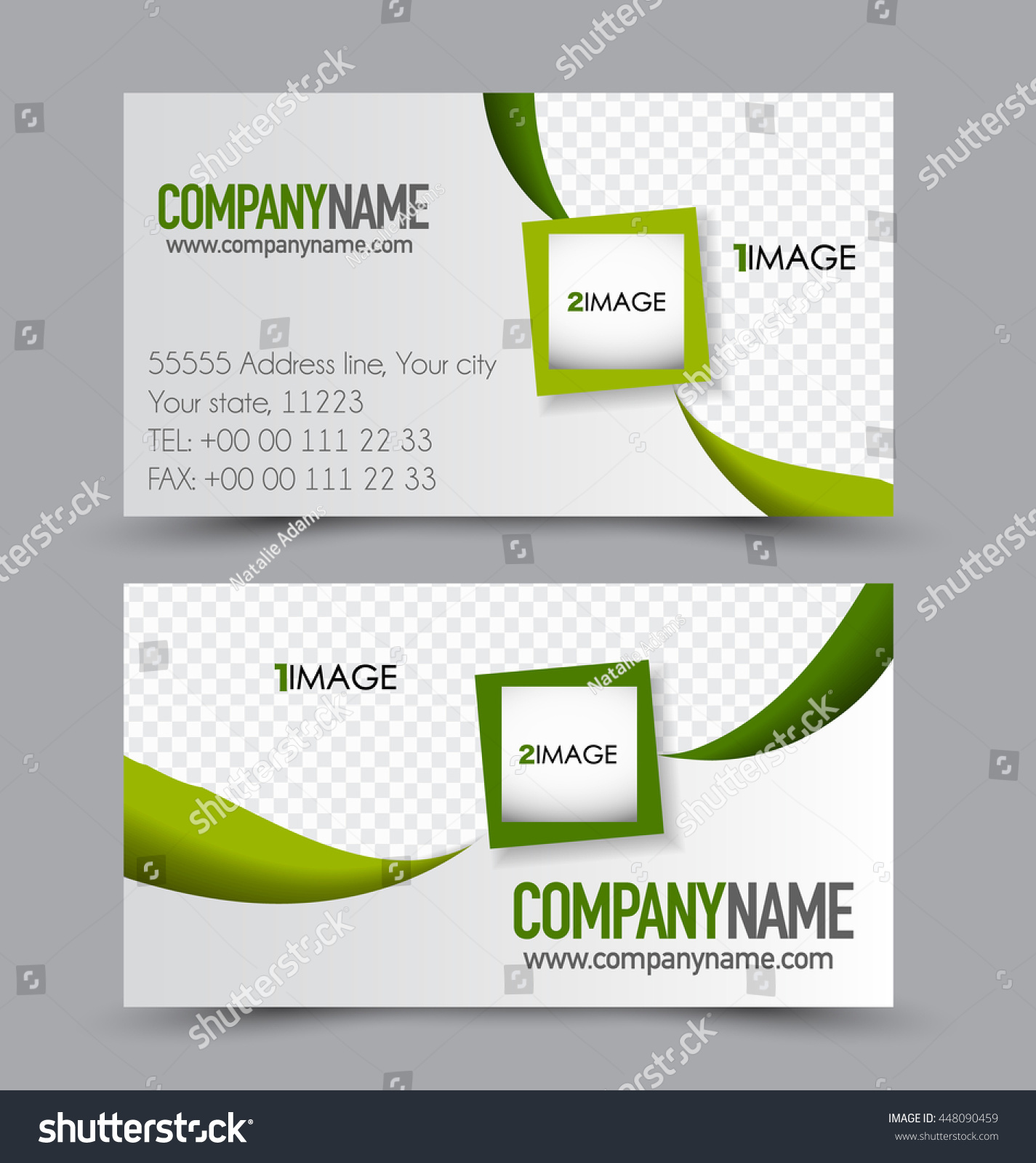 Business Card Design Set Template Company Stock Vector 448090459 ...