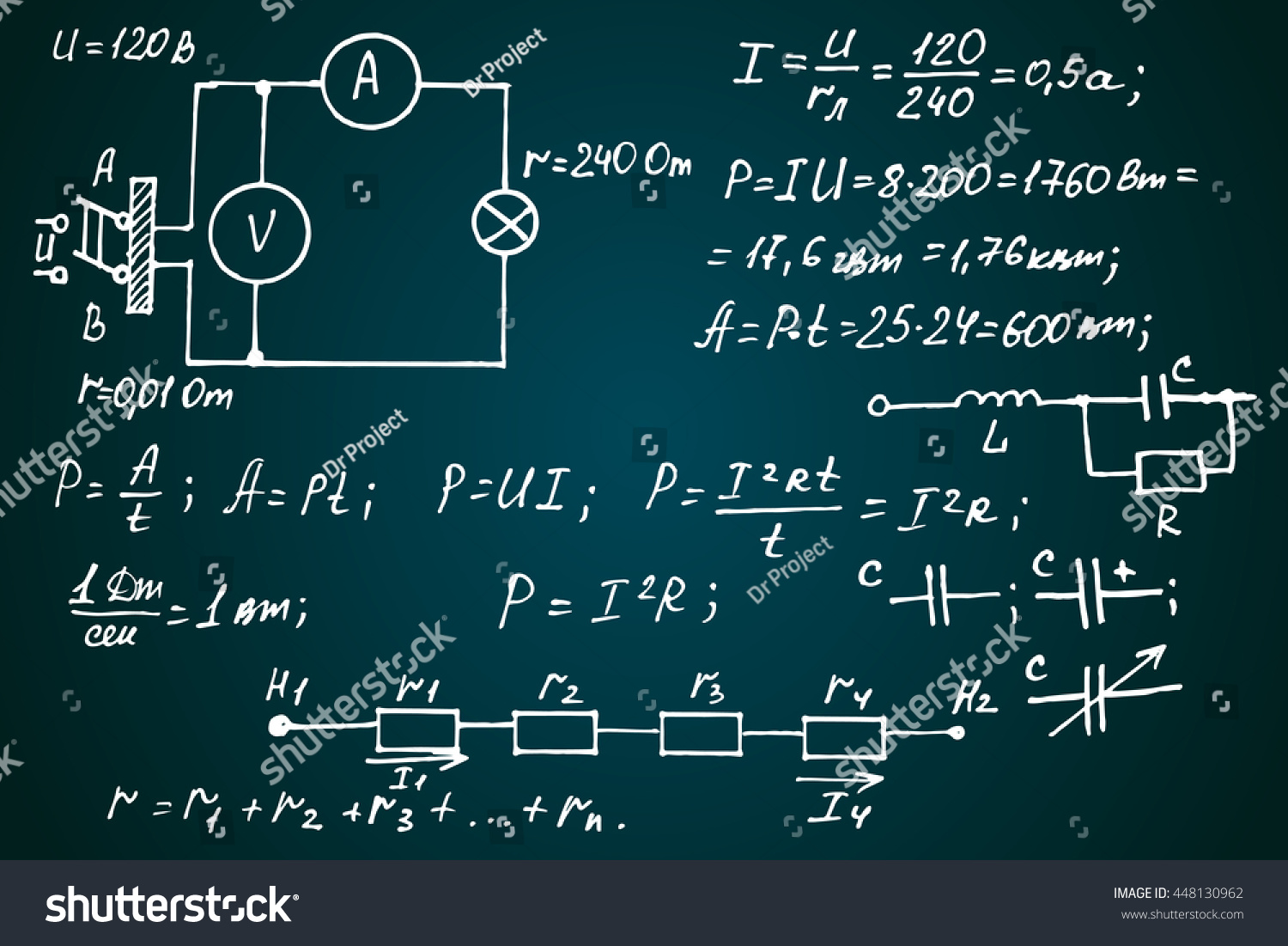 Physics Electronic Engineering Mathematics Equation Calculations ...