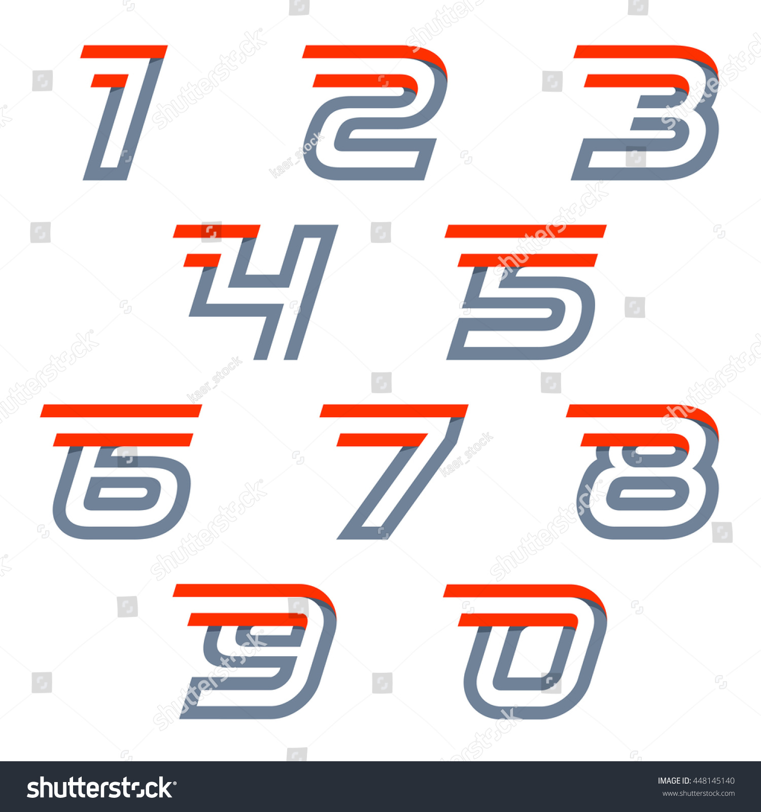 fast speed sport numbers set logos stock vector royalty free