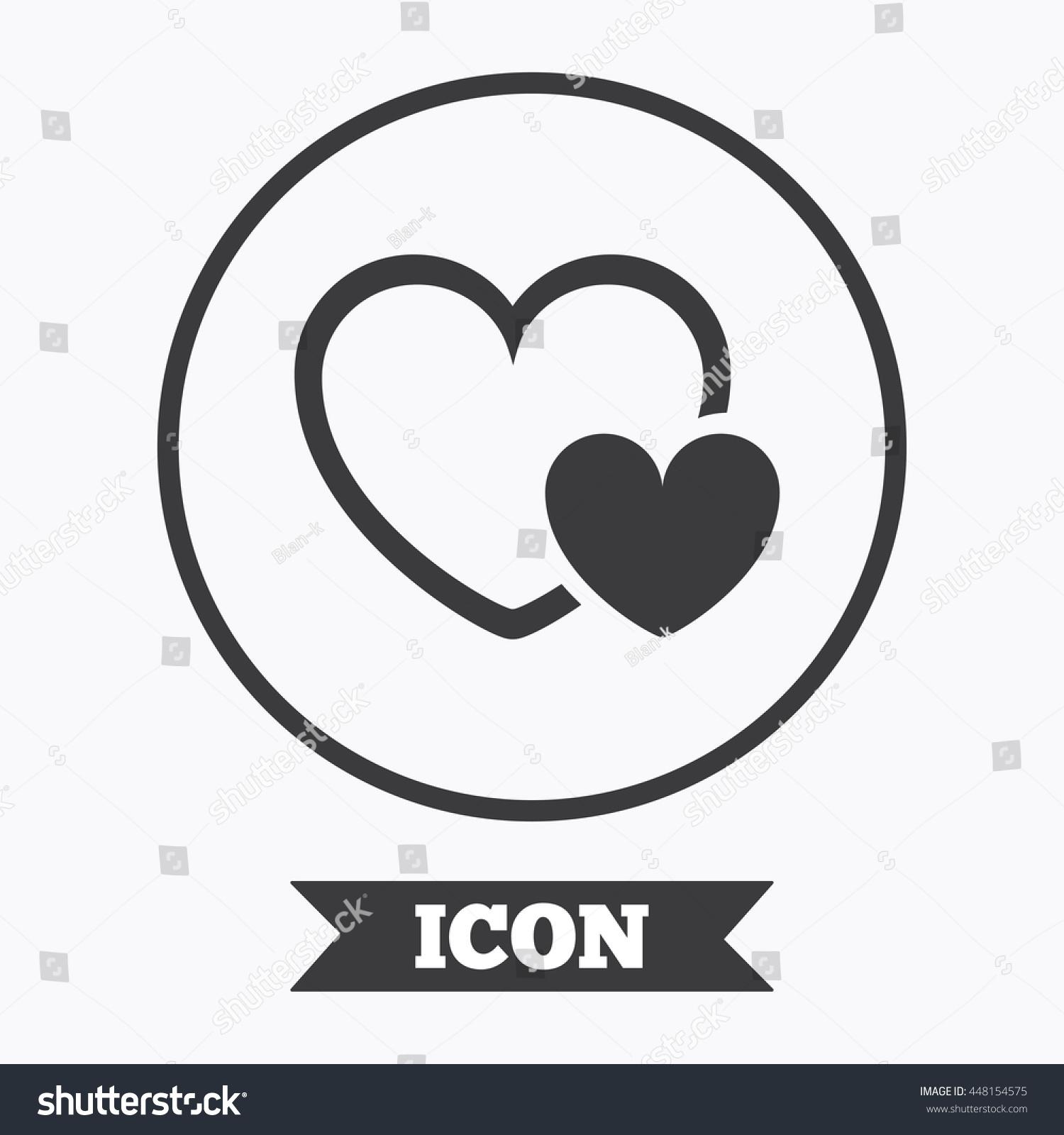 Hearts sign icon love symbol graphic stock vector 448154575 love symbol graphic design element flat symbol in circle button buycottarizona