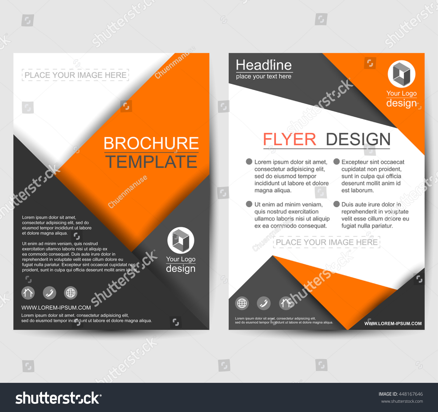 geometric paper origami brochure flyer design template vector geometric paper origami brochure flyer design template vector leaflet cover abstract background layout in