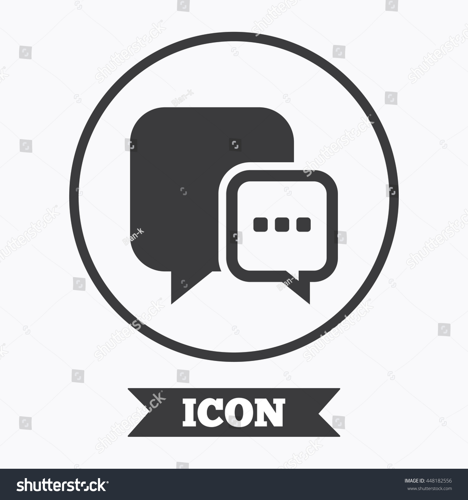 Chat sign icon speech bubble three stock vector 448182556 speech bubble with three dots symbol communication chat bubble graphic biocorpaavc