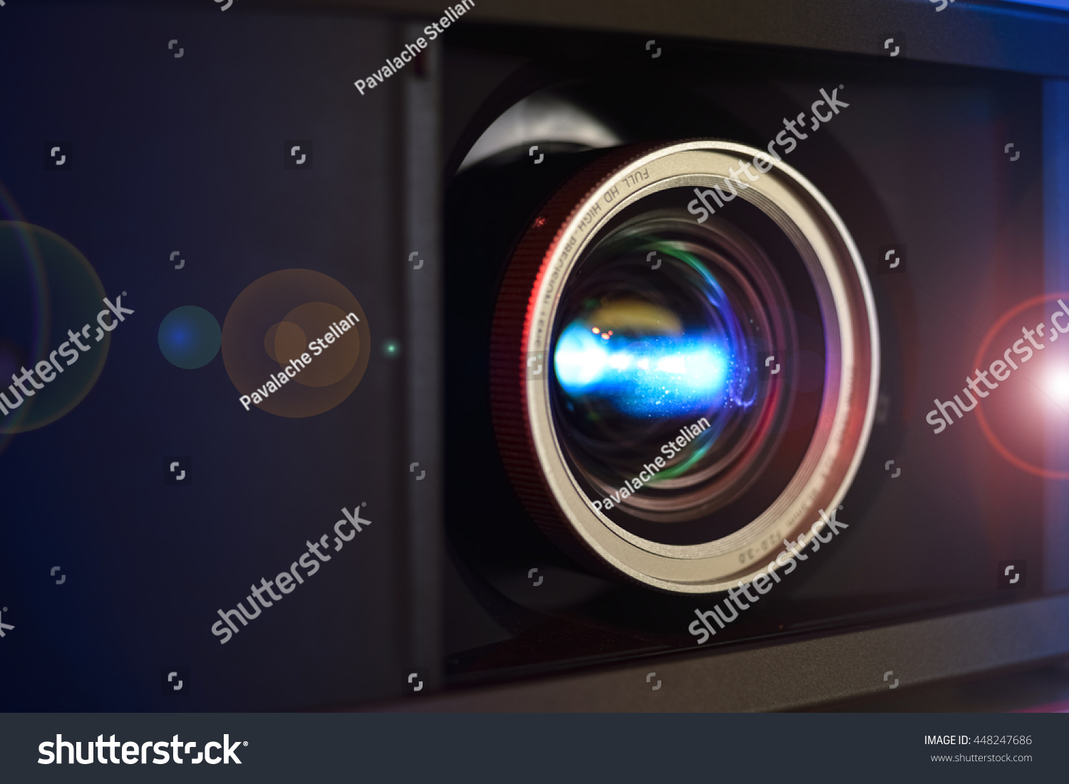 Full hd video projector lens closeup stock photo 448247686 for Hd video projector