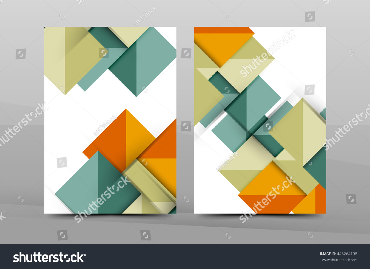 geometric abstract background color business brochure cover color business brochure cover vector template annual report front page