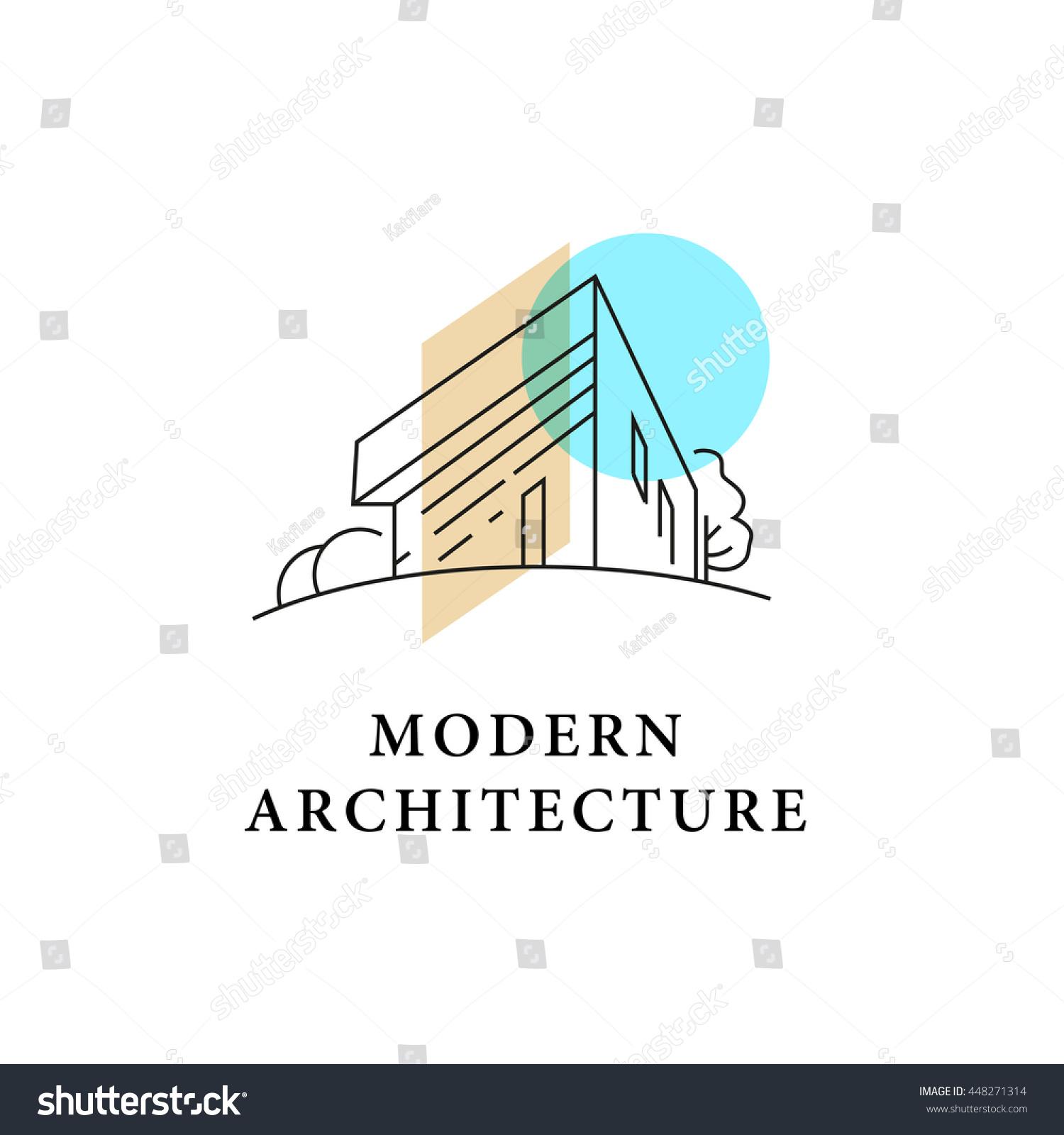 vector architect studio logo design isolated stock vector vector architect studio logo design isolated on white background architect bureau insignia icon home