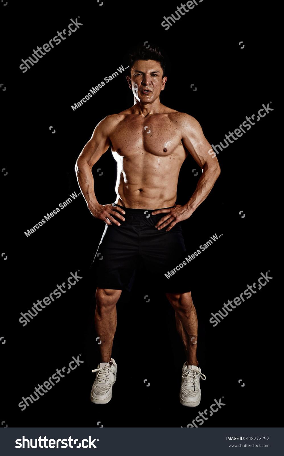 Mature male bodybuilder