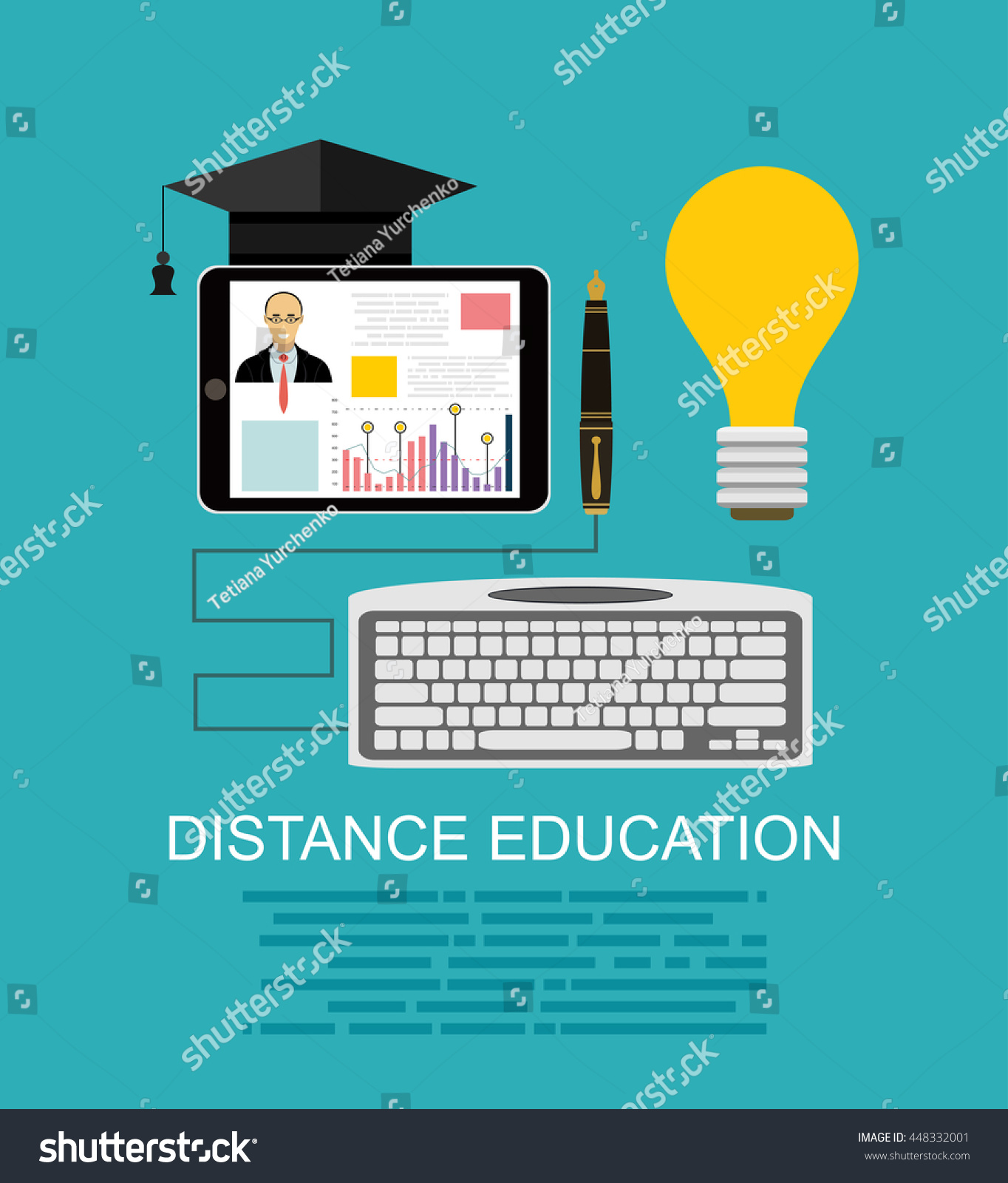 Education Online Courses Web Tutorials Elearning Stock Vector Royalty Free 448332001