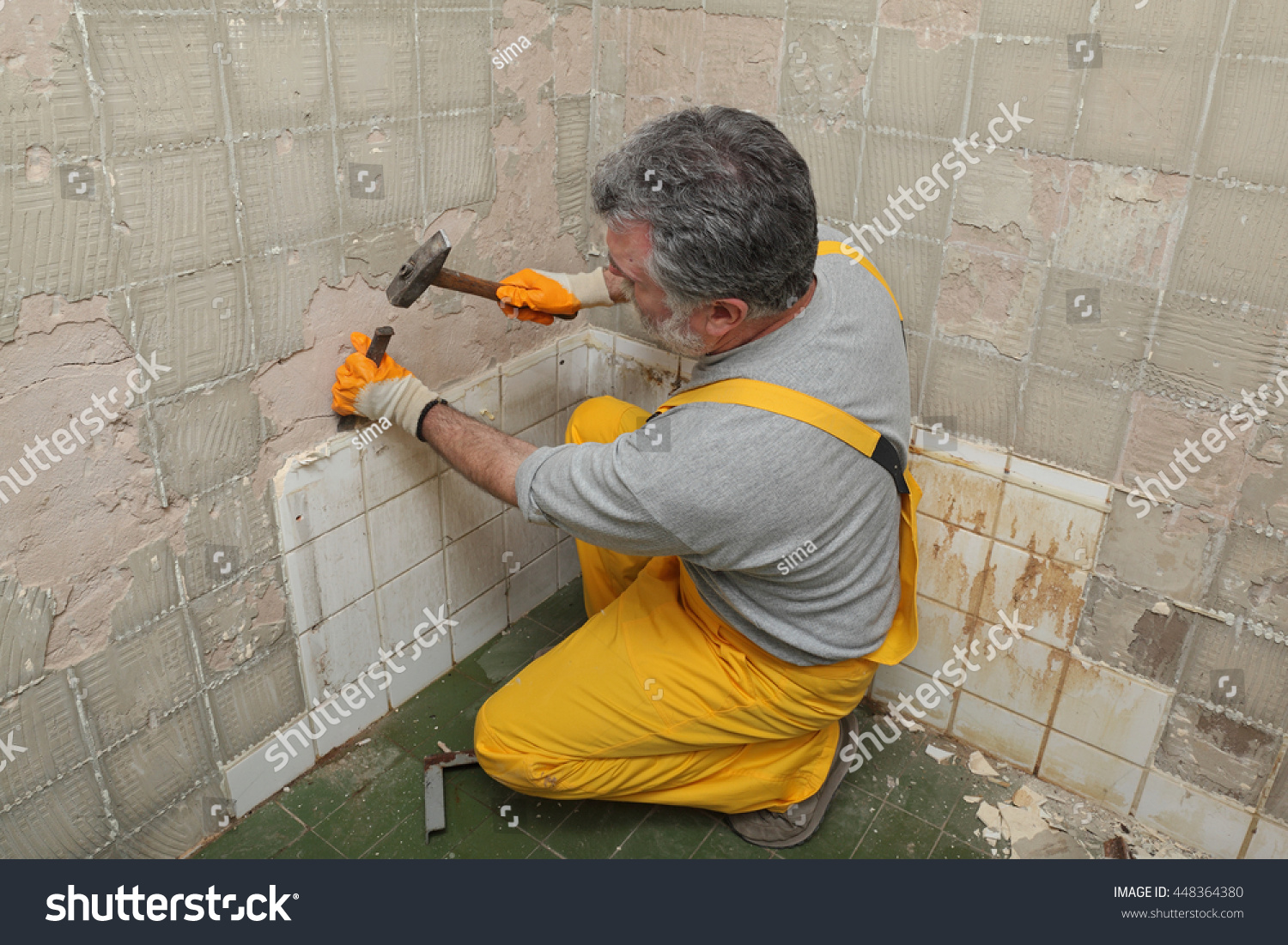 Removing tile from bathroom walls
