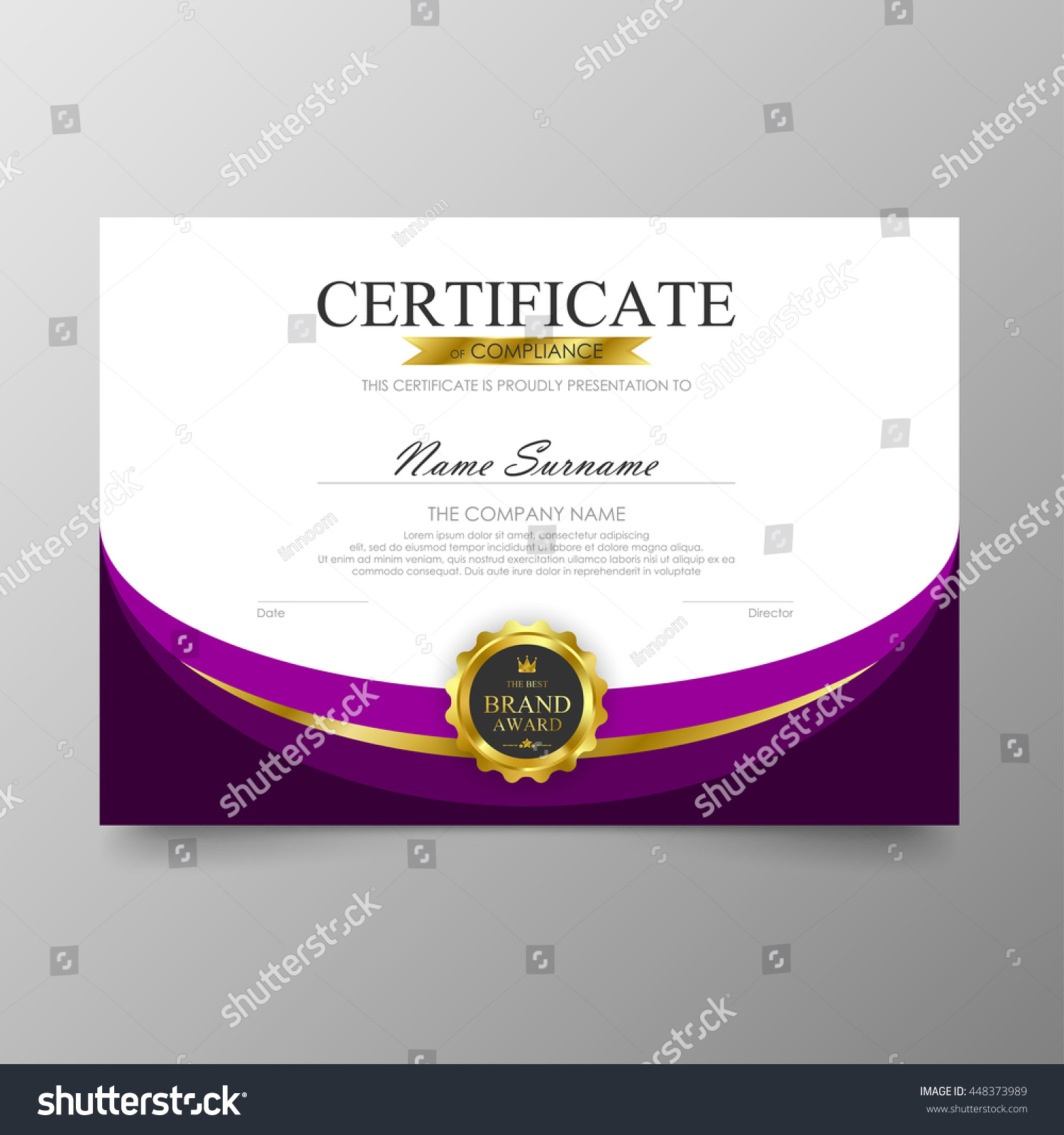 purple certificate template - purple certificate template diploma background vector
