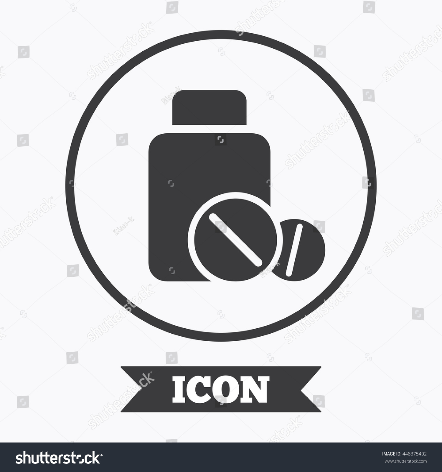 Medical Tablets Bottle Sign Icon Pharmacy Stock Vector Royalty Free