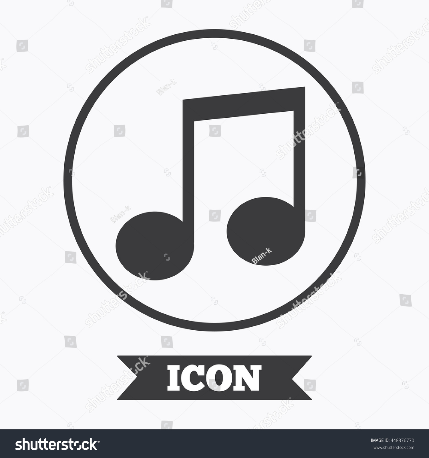 Music note sign icon musical symbol stock vector 448376770 music note sign icon musical symbol graphic design element flat symbol in circle buycottarizona Image collections