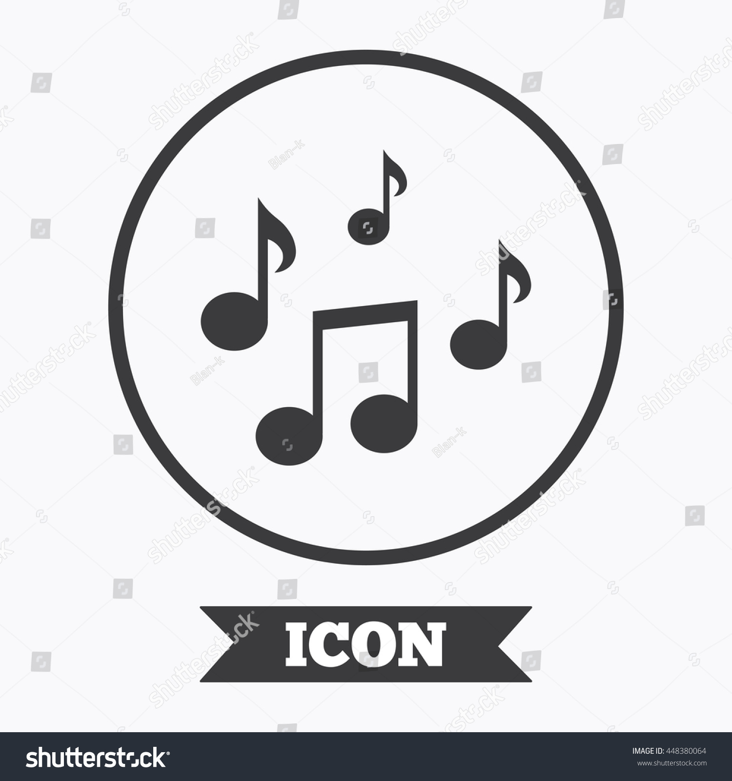 Music Notes Sign Icon Musical Symbol Stock Vector Royalty Free