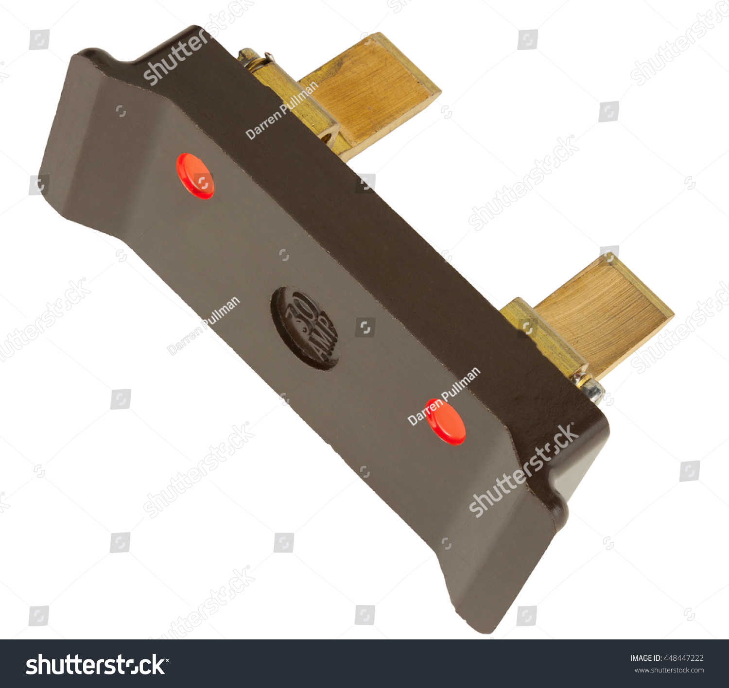 Old 30 Amp Fuse Wire Holder Stock Photo Edit Now 448447222 Chocolate Box Isolated On White With Clipping Path