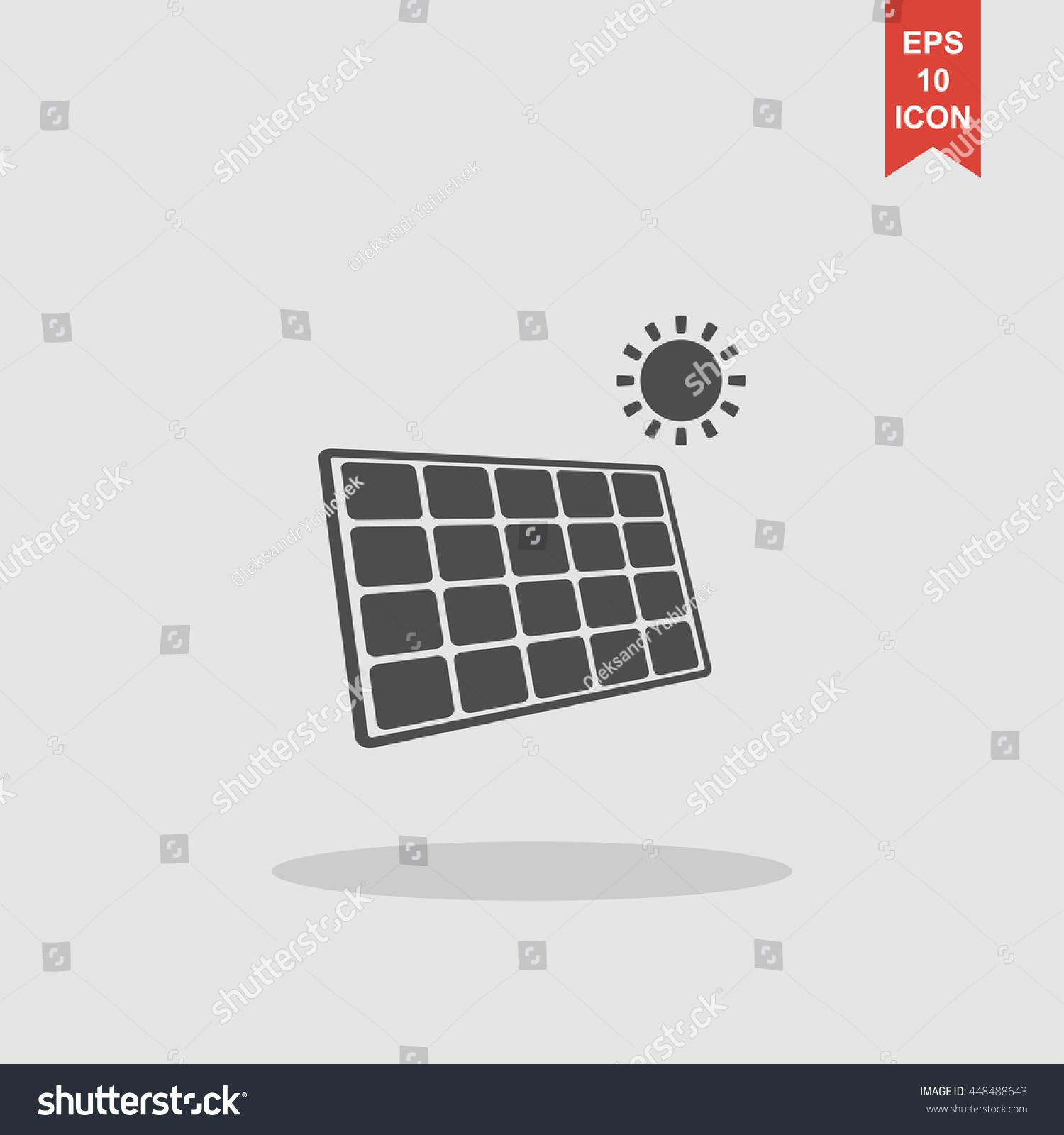 Solar energy panel modern design flat stock vector for Solar panel layout tool