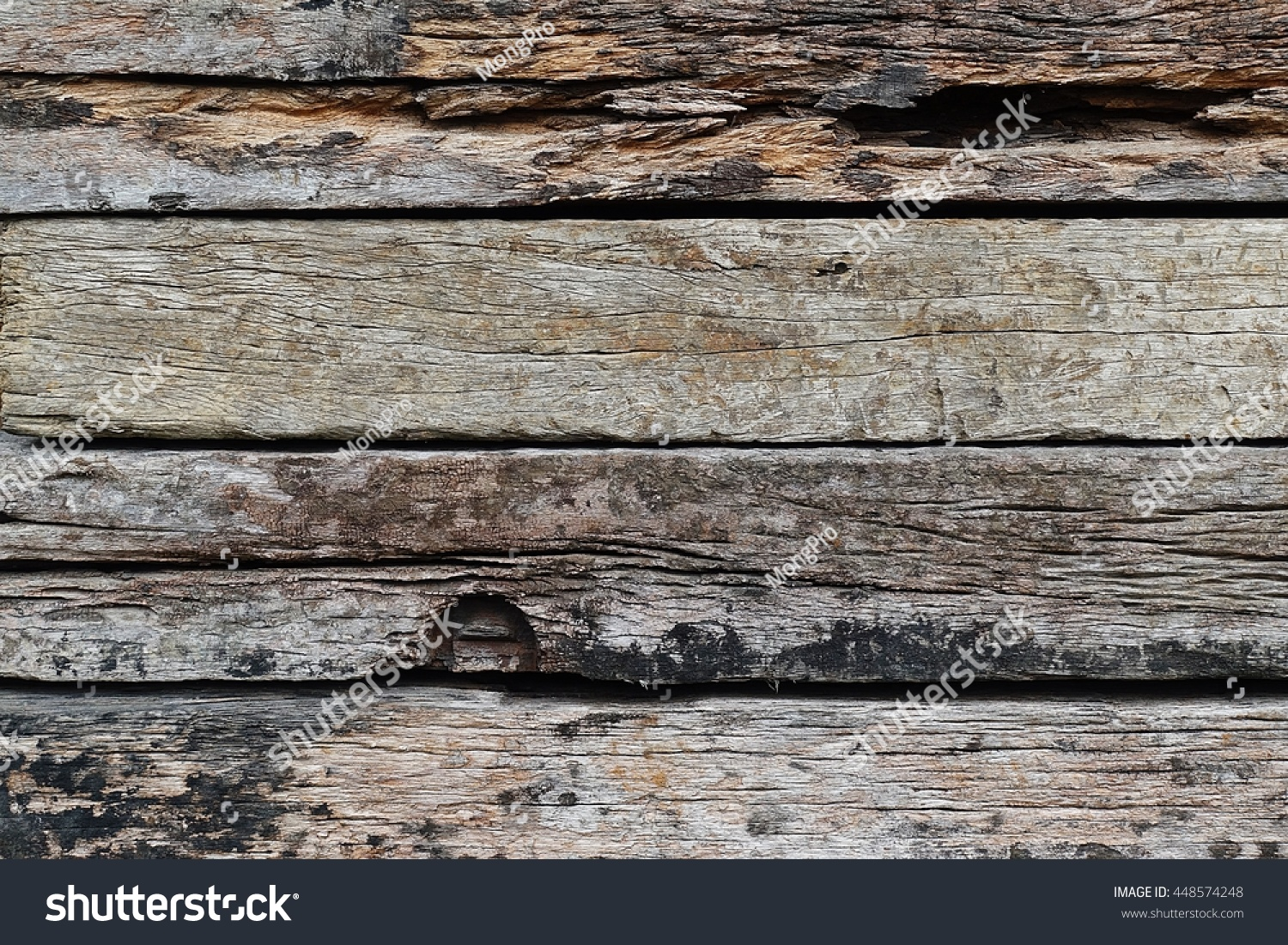 Old Wood Railway Sleepers Abstract Architecture Stock