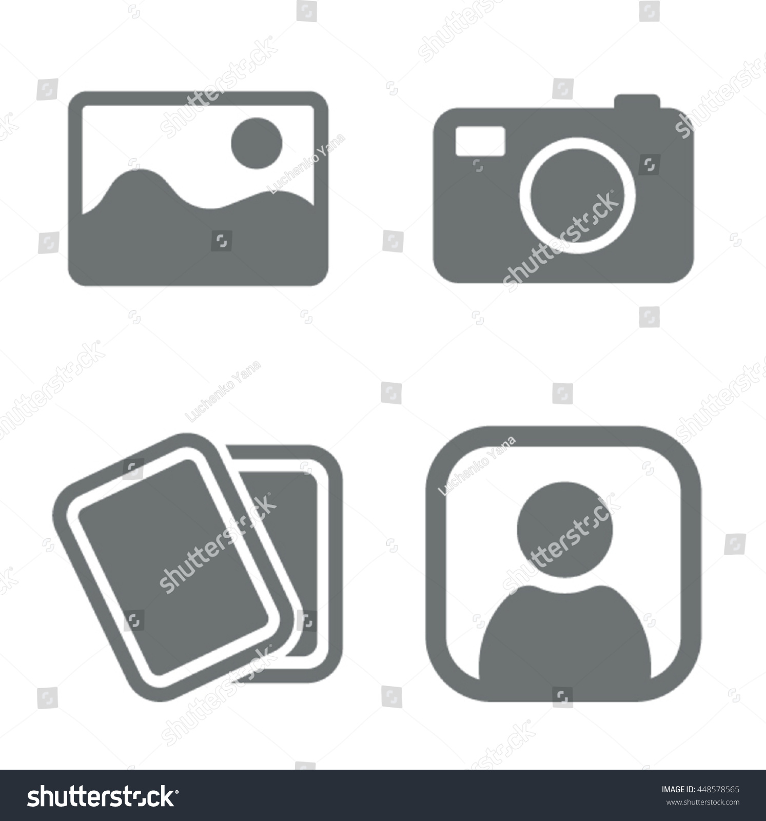 No image available or Picture coming soon Set of pictures Missing image sign or uploading pictures Vector
