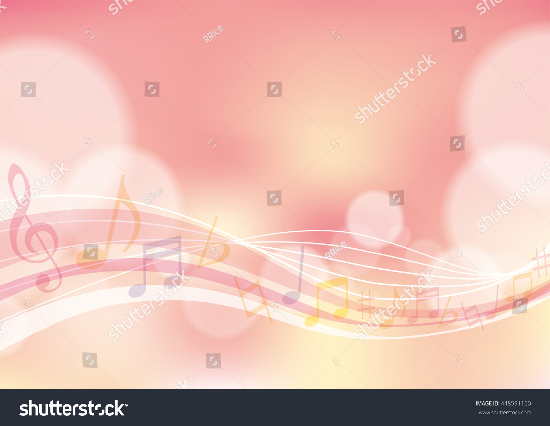 Pink Music Wallpaper: Pink Music Wave Background Stock Illustration 448591150
