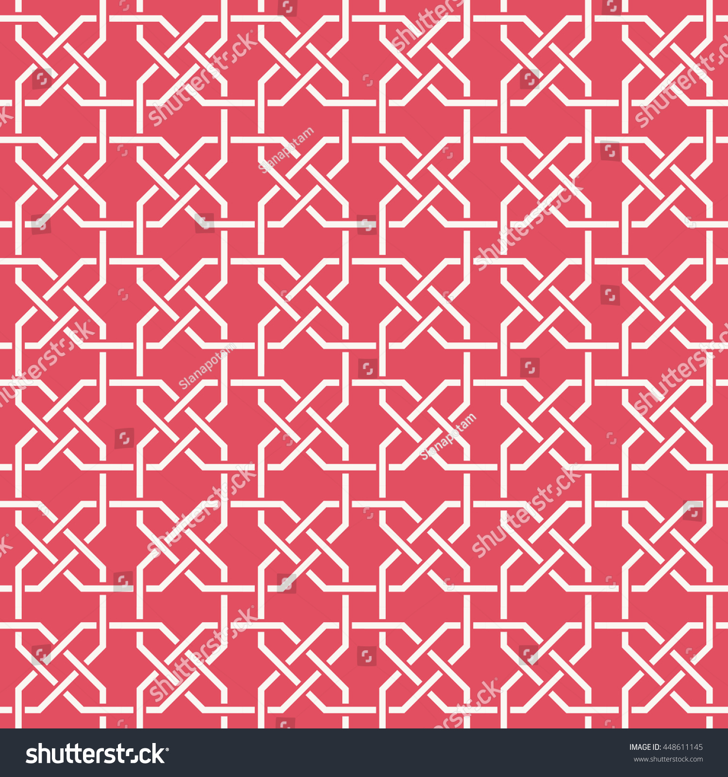Entwined Modern Pattern Based On Traditional Stock Vector ... for Modern Arabic Pattern Vector  585hul