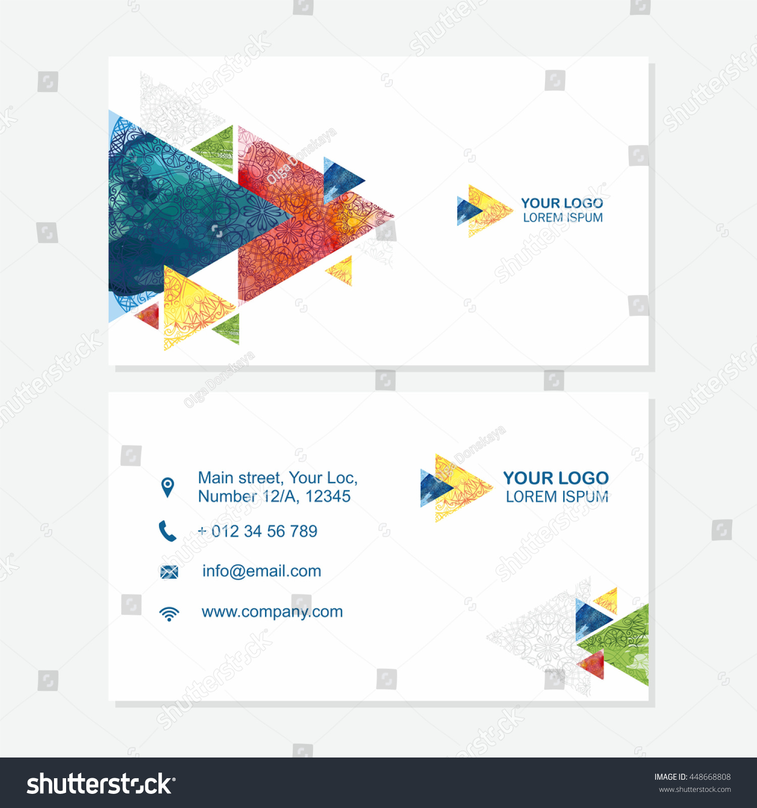 business card visiting card template abstract stock vector