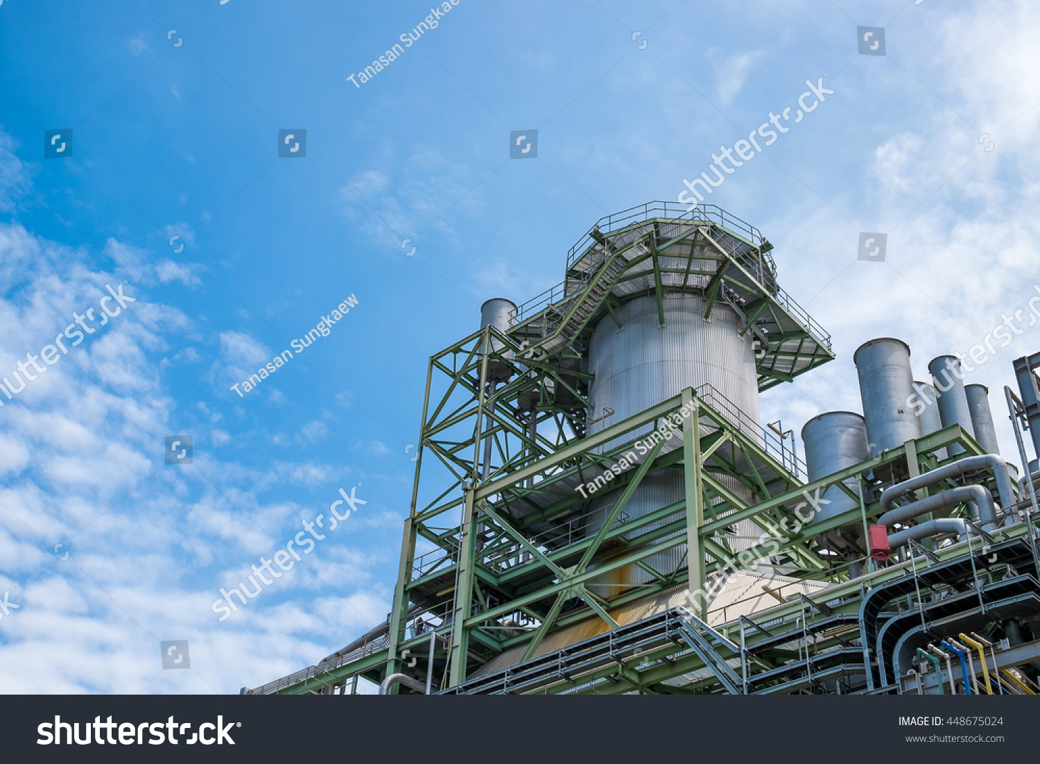 Boiler Equipment Combined Cycle Power Plant Stock Photo (Royalty ...