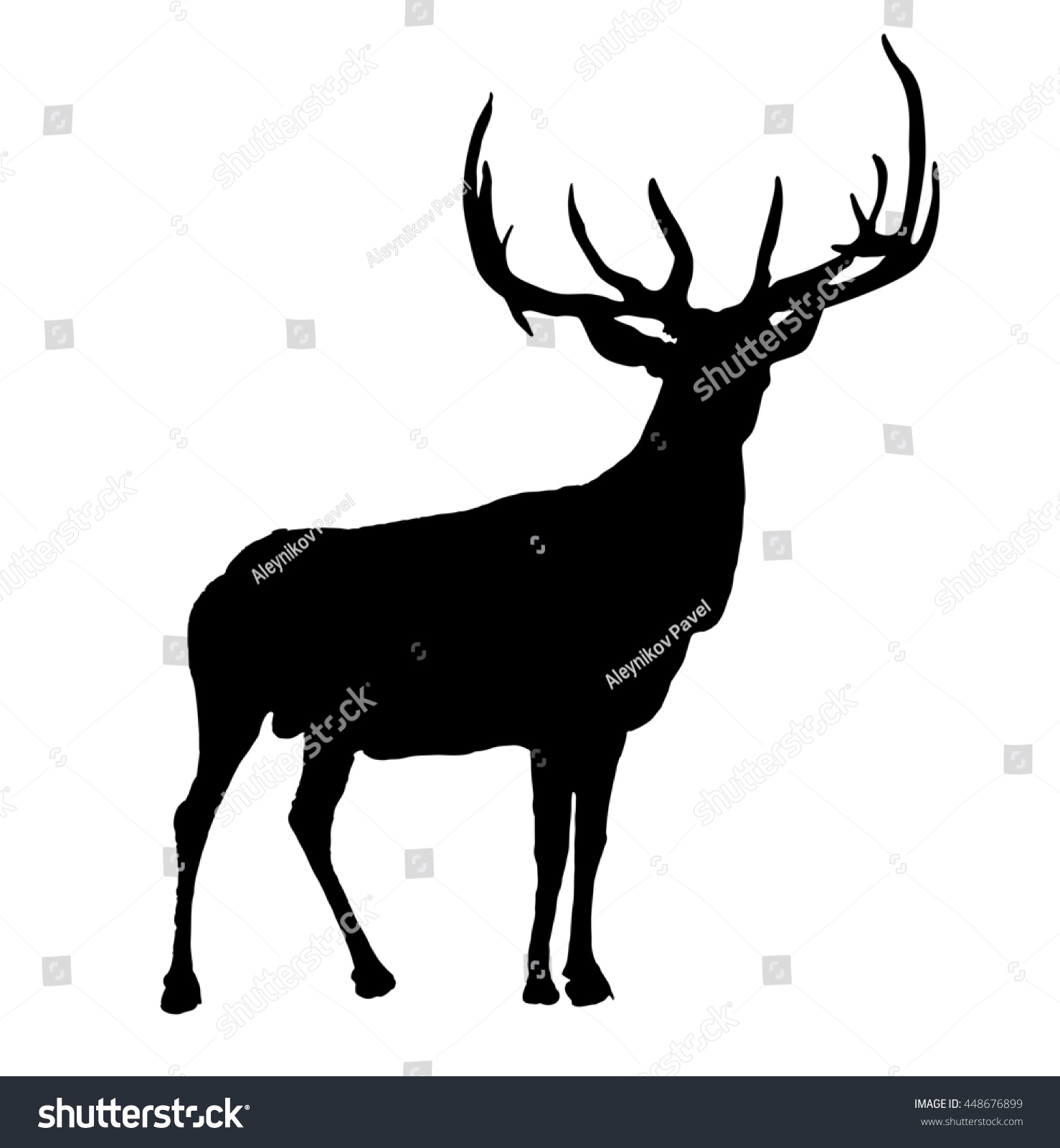 moose hand drawn outline stock illustration 448676899