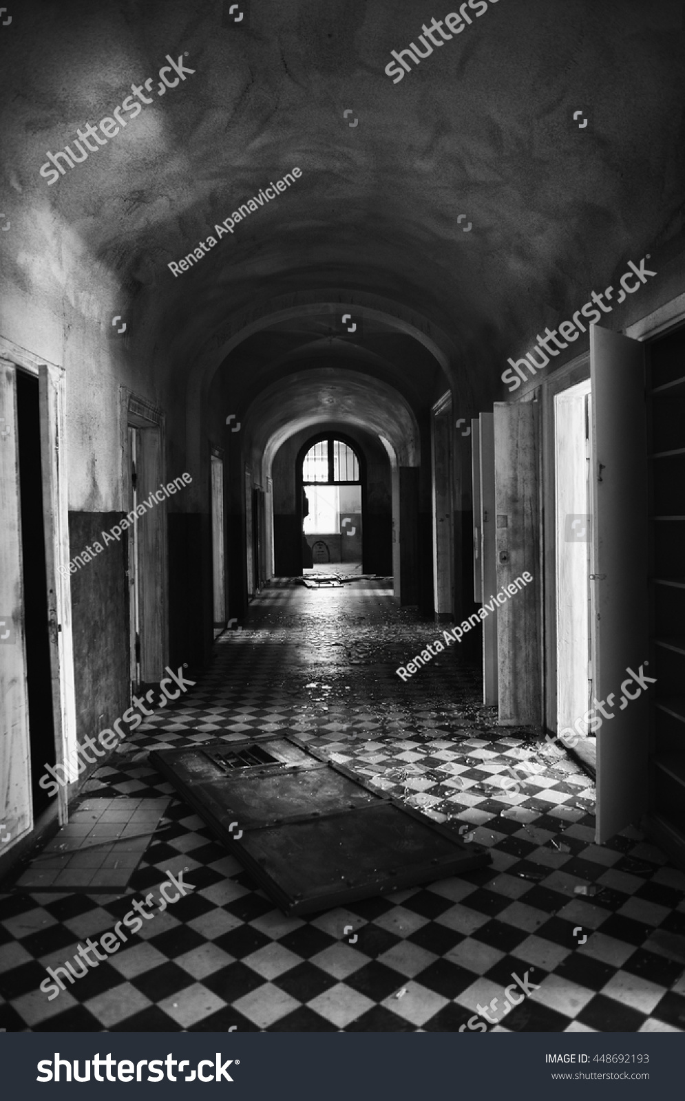 old architectural photography. Wonderful Architectural Old Abandoned Corridor With Columns In Black And White Selenium Photo  Abstract Architectural Inside Architectural Photography