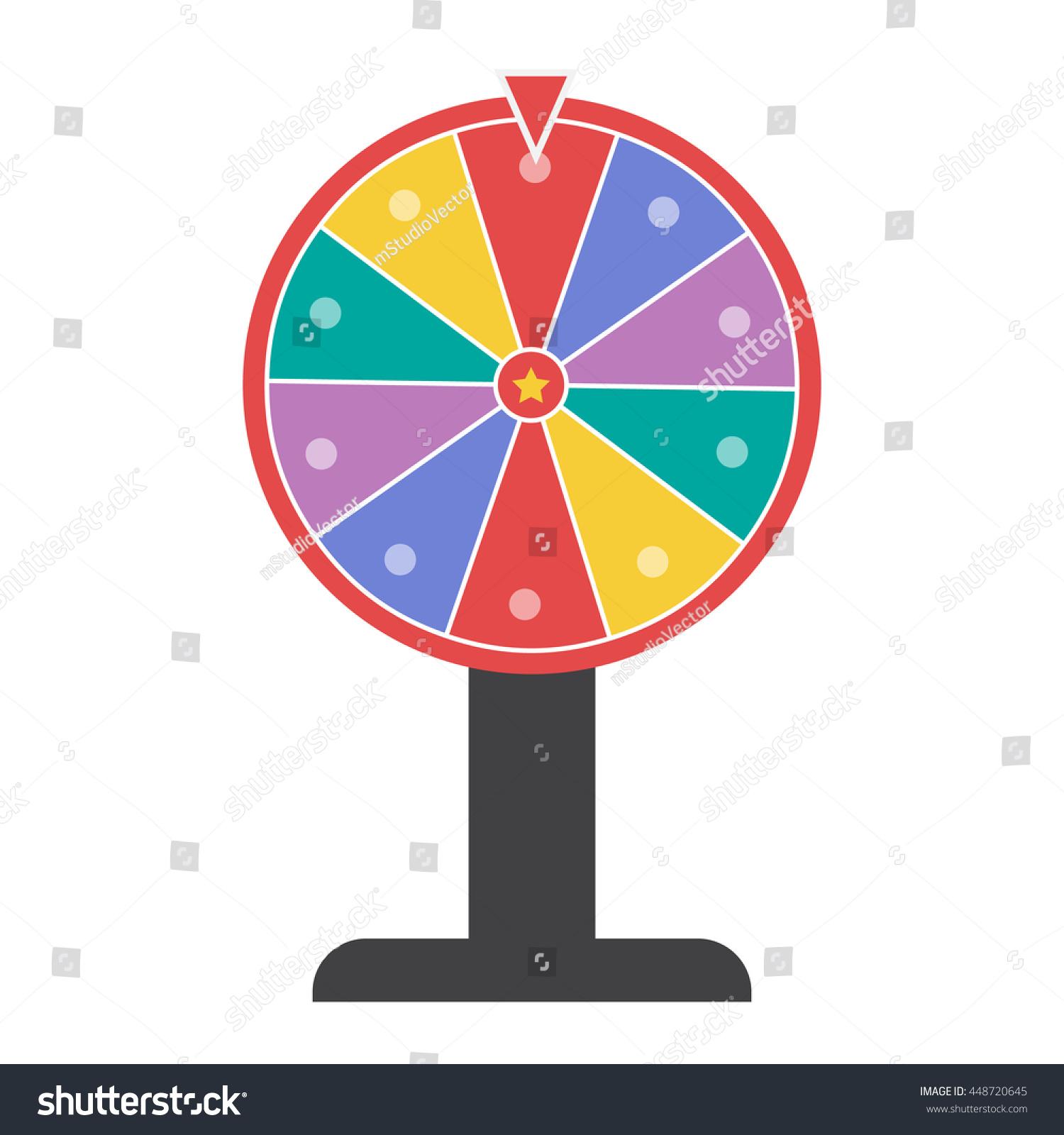 Wheel Of Fortune Vector Illustration Eps 10 - 448720645 ...