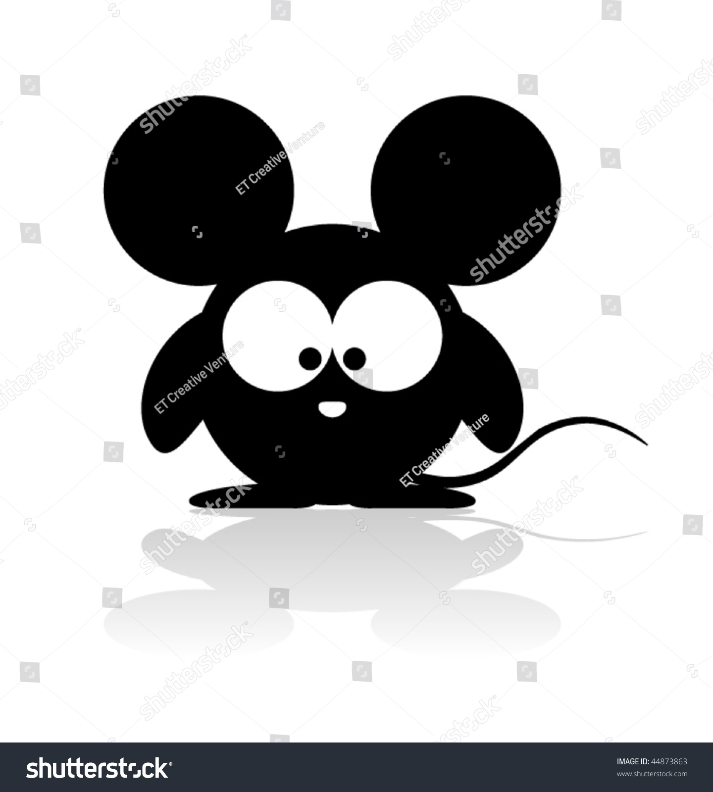 Cute Mouse Vector - 44873863 : Shutterstock