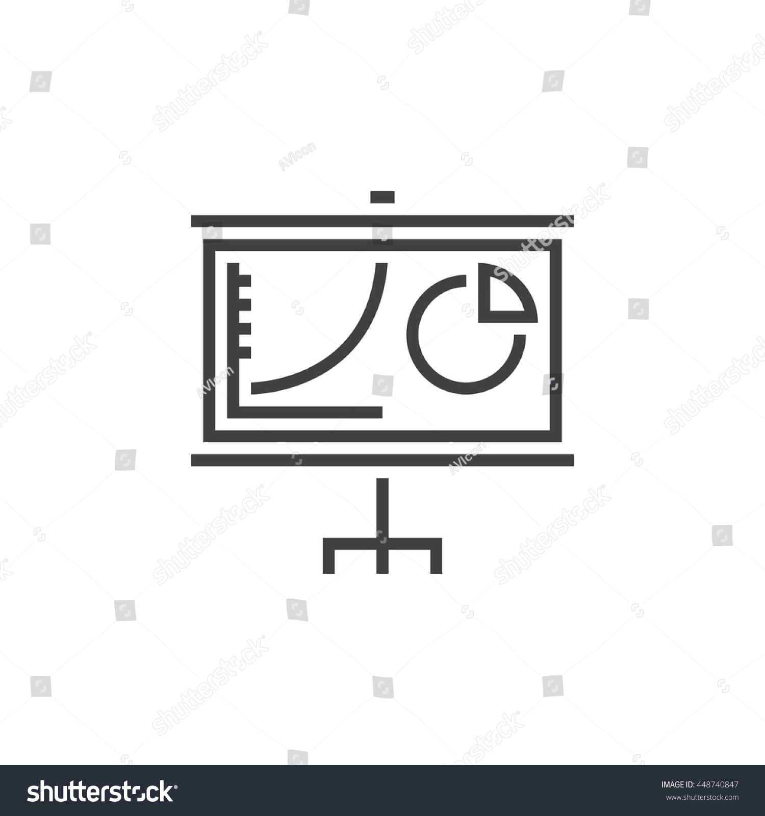 Chart board line icon outline vector stock vector 2018 448740847 chart board line icon outline vector logo linear pictogram isolated on white pixel ccuart Image collections