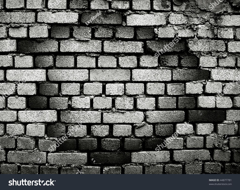 Broken Brick Wall Stock Illustration 44877781 Shutterstock