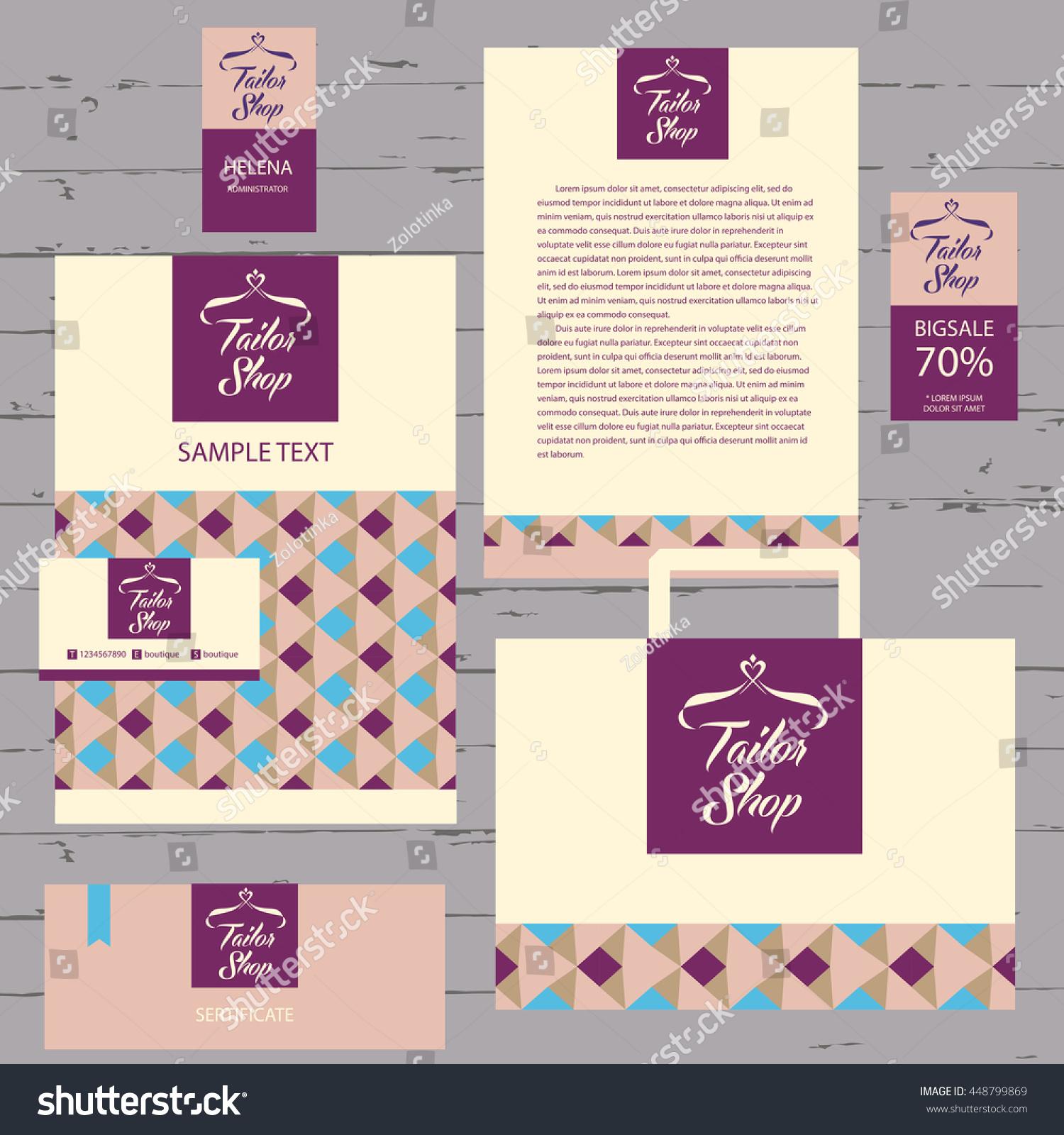 Illustration Tailor Shop Stylized Heart Hanger Stock Vektorgrafik