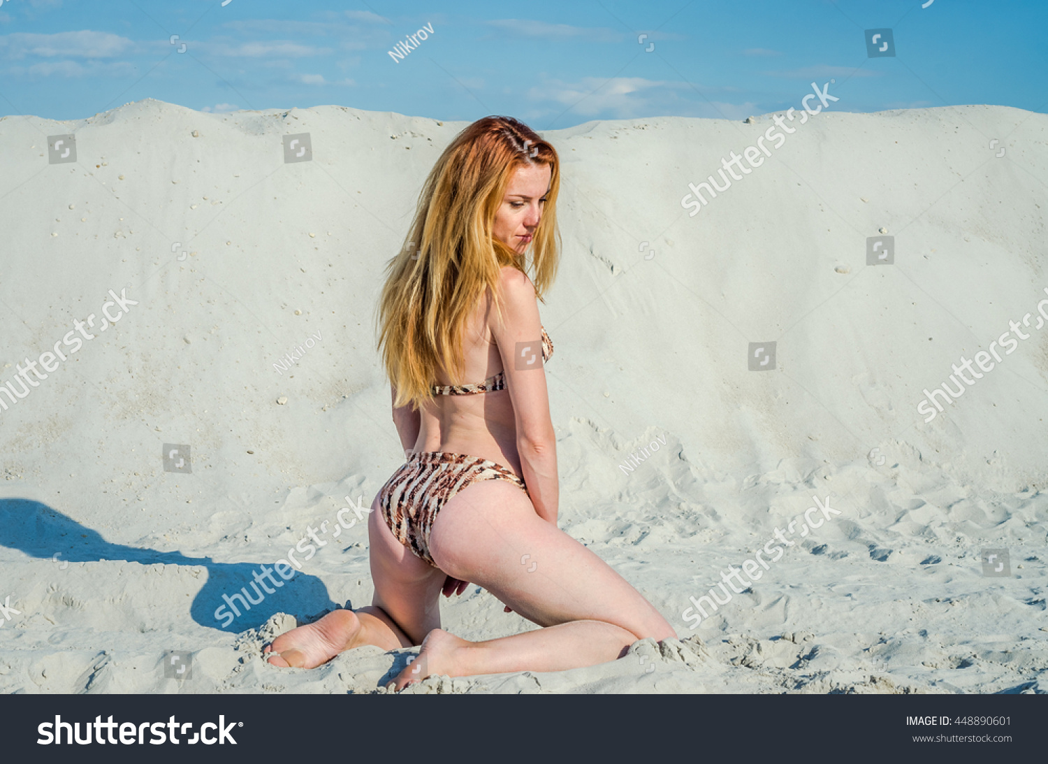 young charming girl sat sexy ass stock photo (royalty free