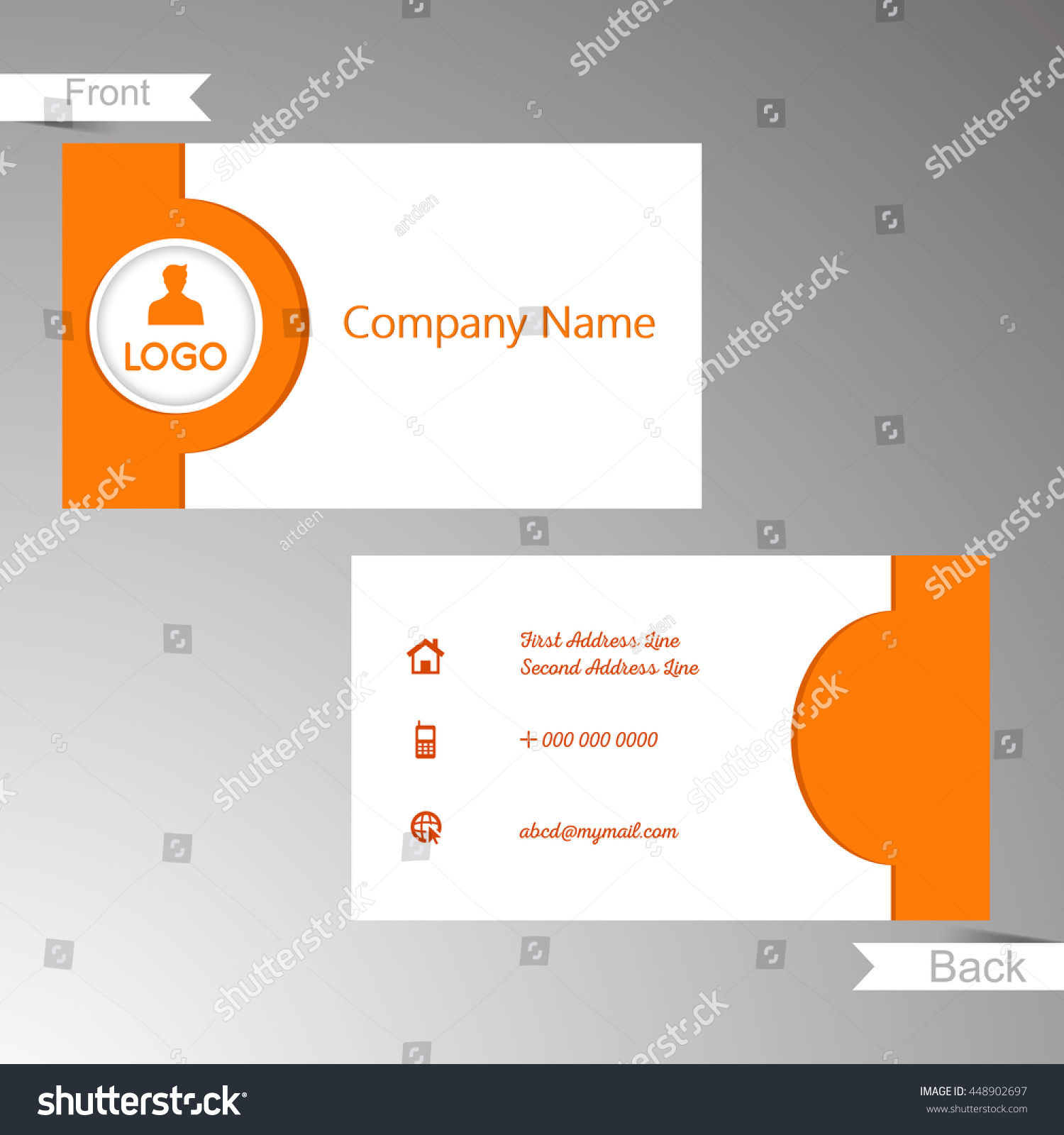 Template Business Card Eliolera