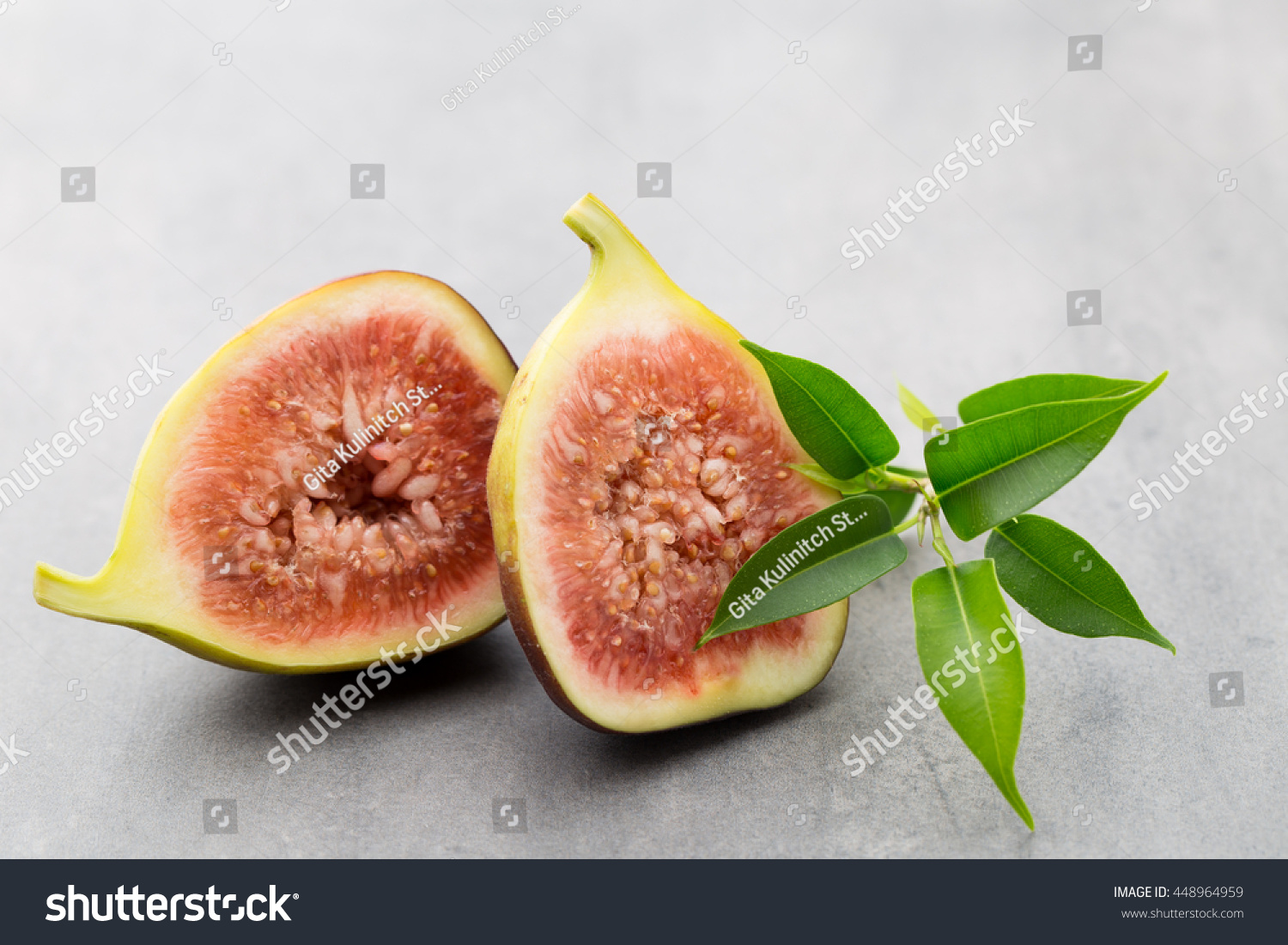 Whole Figs One Fig Sliced Half Stock Photo Edit Now