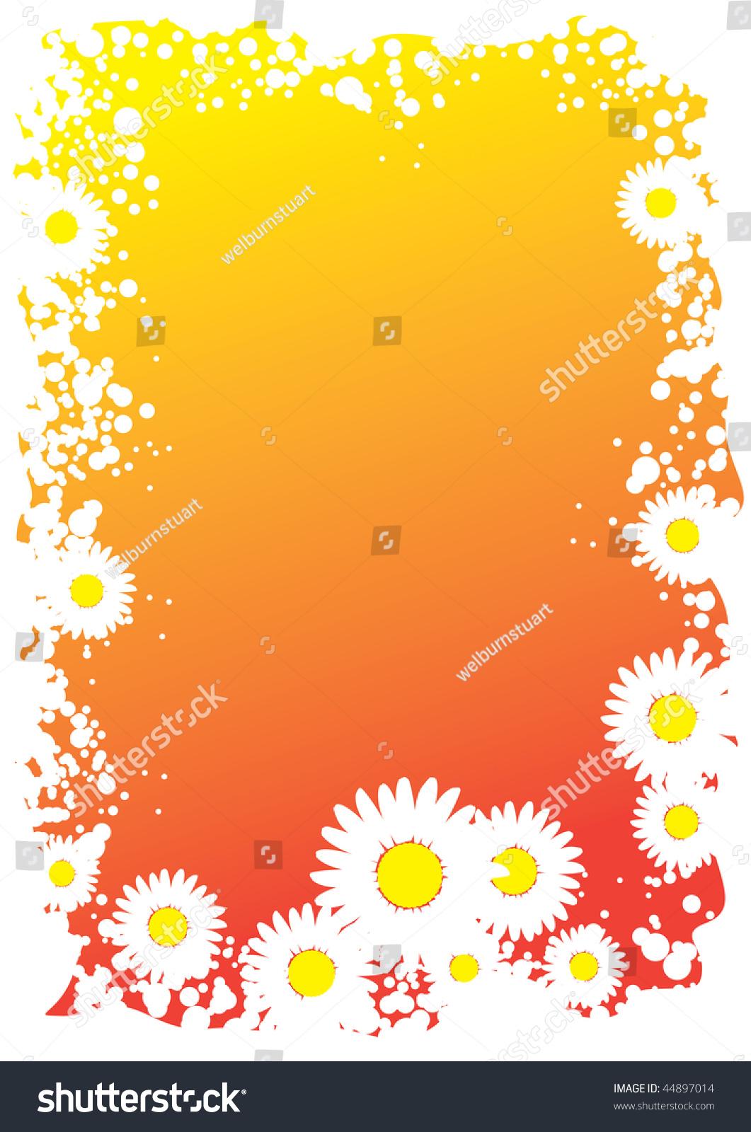 Daisy flower border stock vector 44897014 shutterstock daisy flower border izmirmasajfo