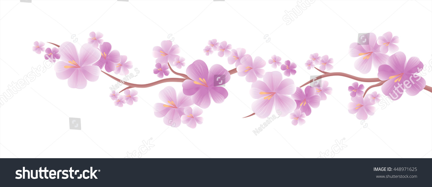 Flowers Design Flowers Background Apple Tree Stock Vector ...