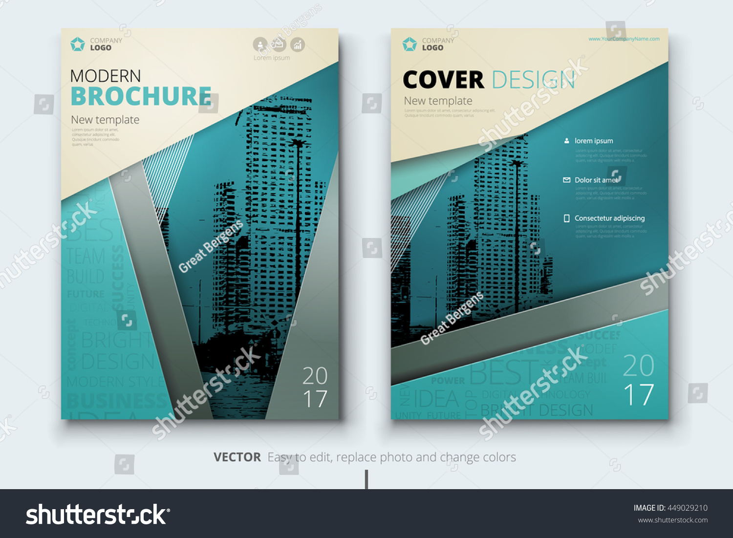 Brochure design corporate business template annual stock photo corporate business template for annual report catalog magazine layout with cheaphphosting Choice Image