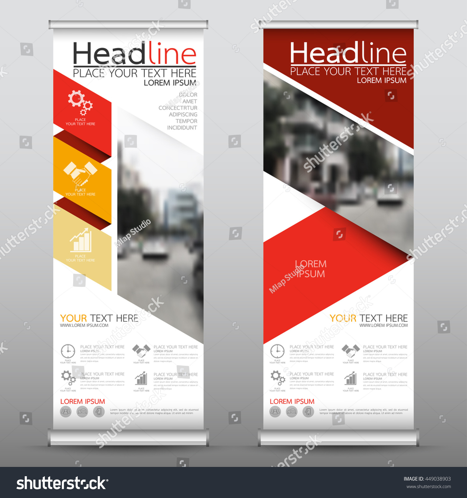 Red Roll Business Brochure Flyer Banner Stock Vector 449038903 ...