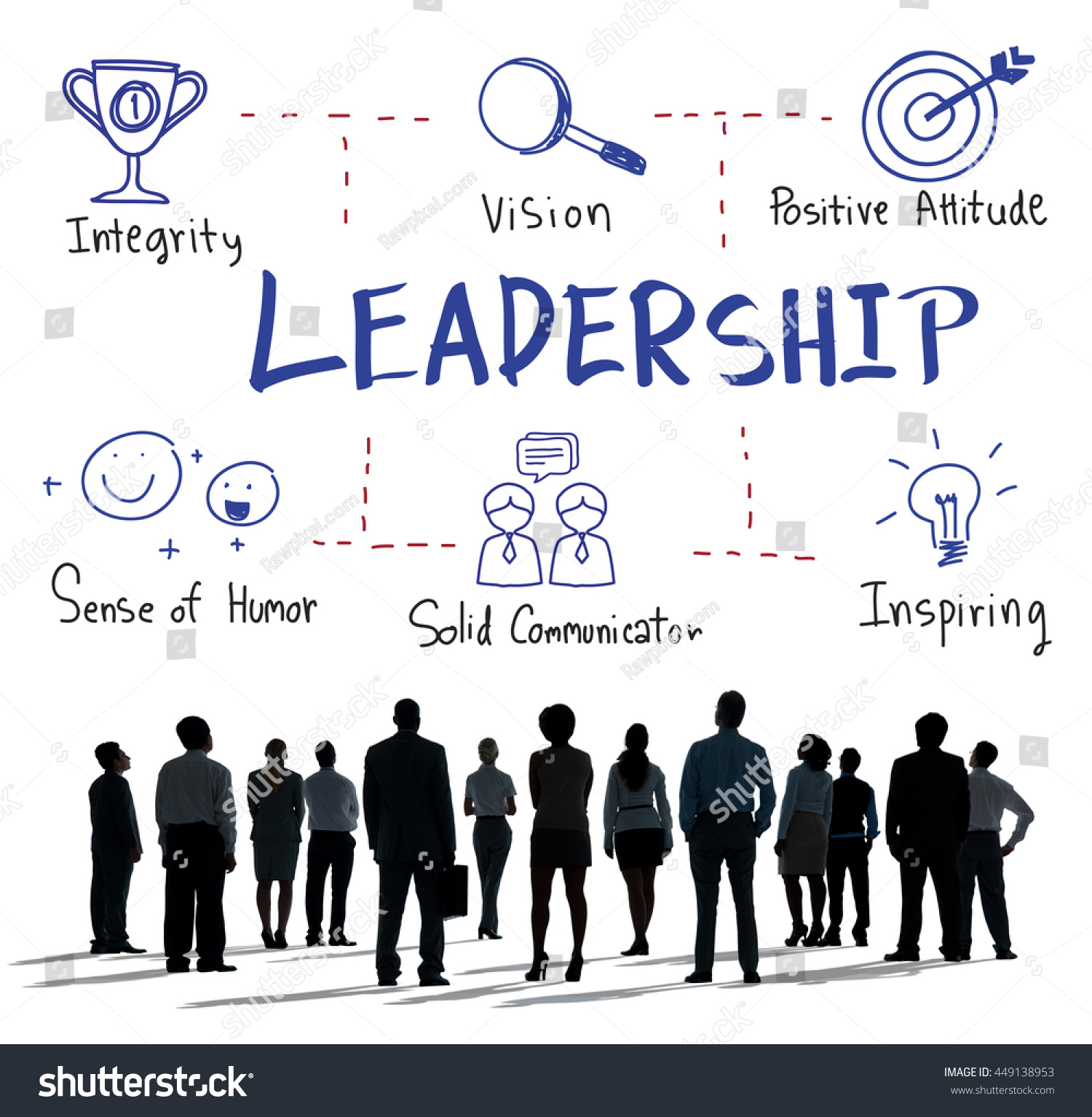leadership success skills drawing graphic concept stock photo edit