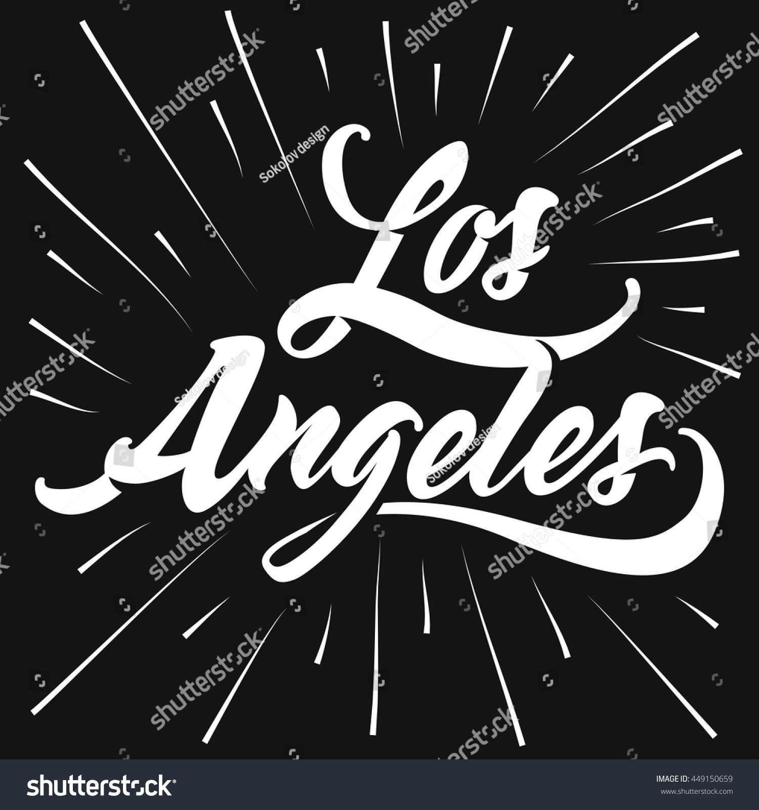 Design t shirts los angeles - Retro Old School Tee Graphics Vintage Hand Lettered Textured Los Angeles T Shirt Apparel Fashion