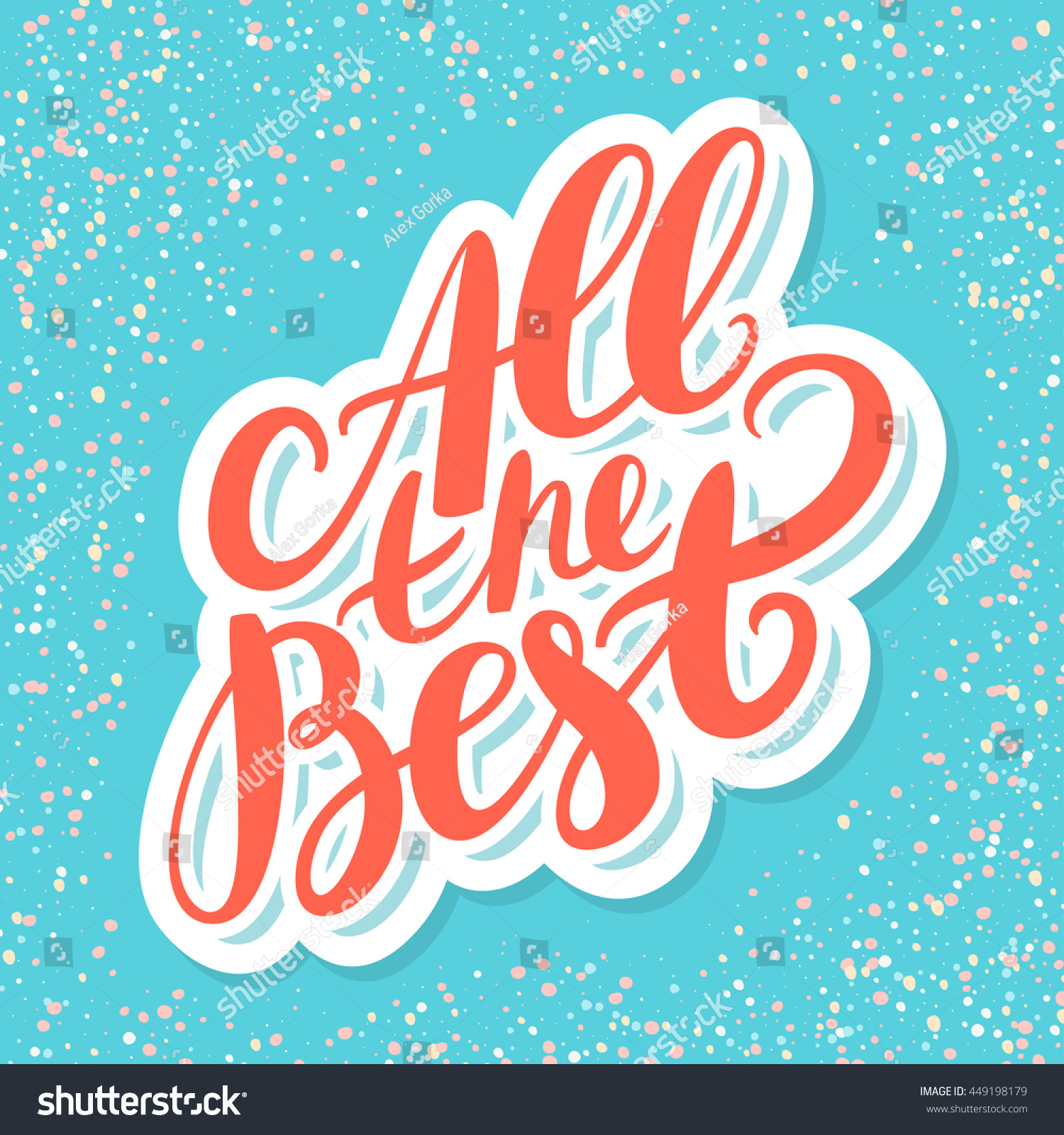 All the best farewell card stock vector illustration for All the very best images