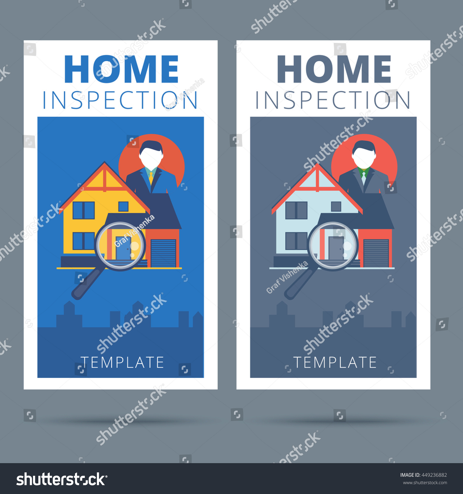 Federal law enforcement business cards gallery free business cards inspirational pics of home inspector business cards business cards home inspection vector business card concept stock magicingreecefo Choice Image