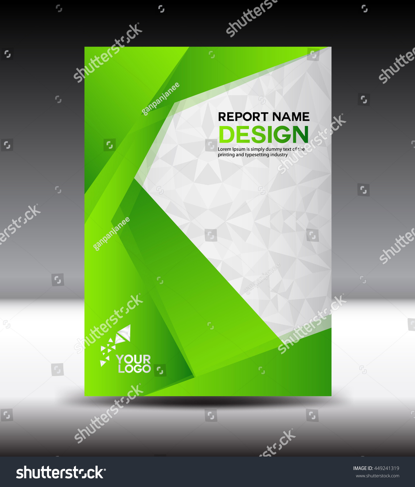 Purity Cookbook Green Cover : Green cover design annual report vector 스톡 벡터