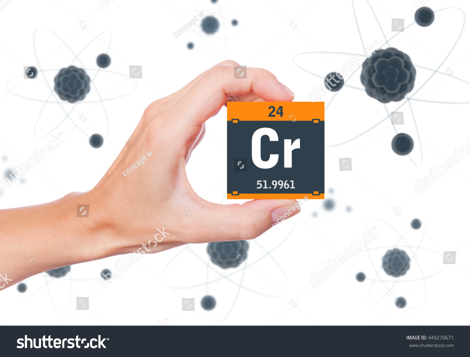 Chromium element symbol handheld atoms floating stock illustration chromium element symbol handheld atoms floating stock illustration 449270671 shutterstock buycottarizona