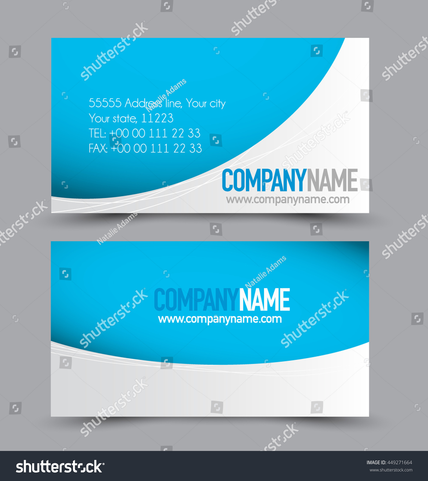 Business Card Set Template Business Identity Stock Vector 449271664 ...