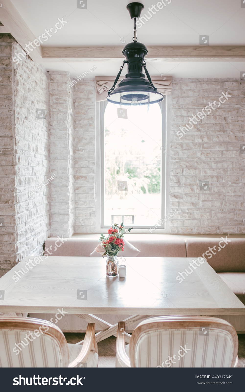 Luxury Vintage Marble Table Decoration Flower Stock Photo Edit Now 449317549