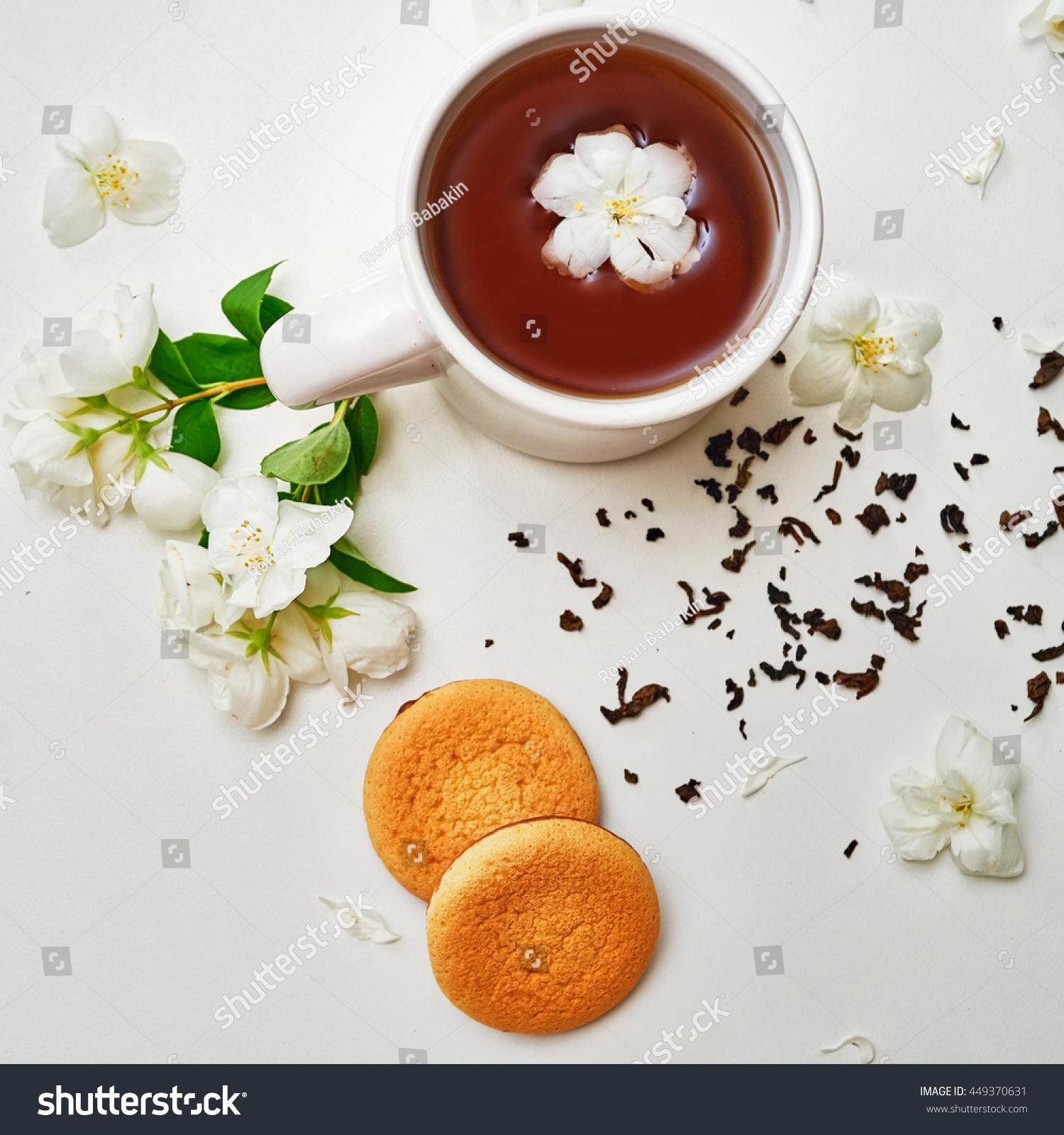 Tea Cup Green Tea Dried Tea Stock Photo Edit Now 449370631