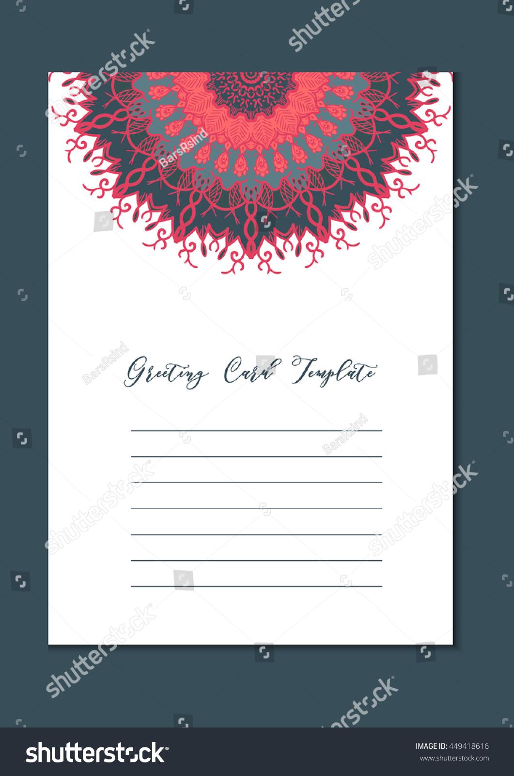 Business mandala card template oriental ethnic pattern mehndi id 449418616 stopboris Images