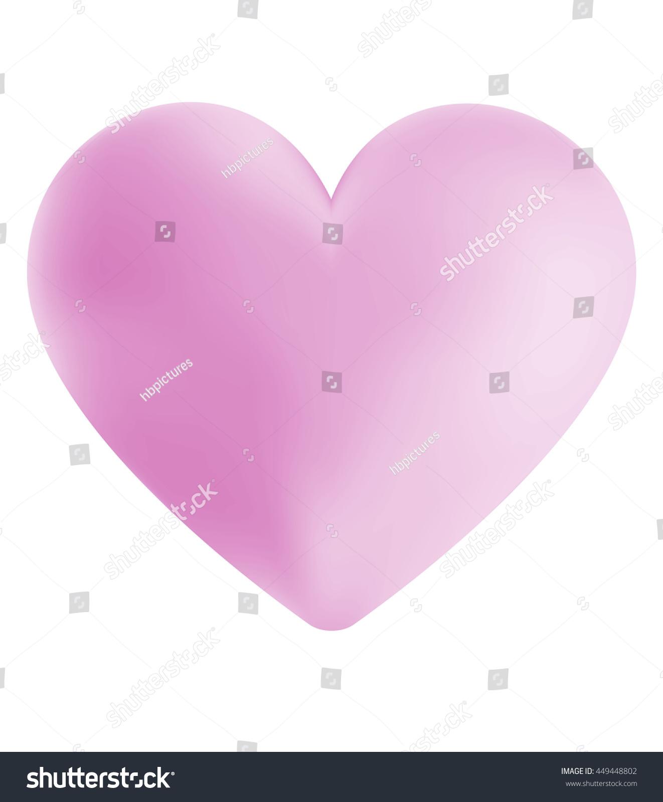 amorous 3d heart shape clouds texture stock illustration